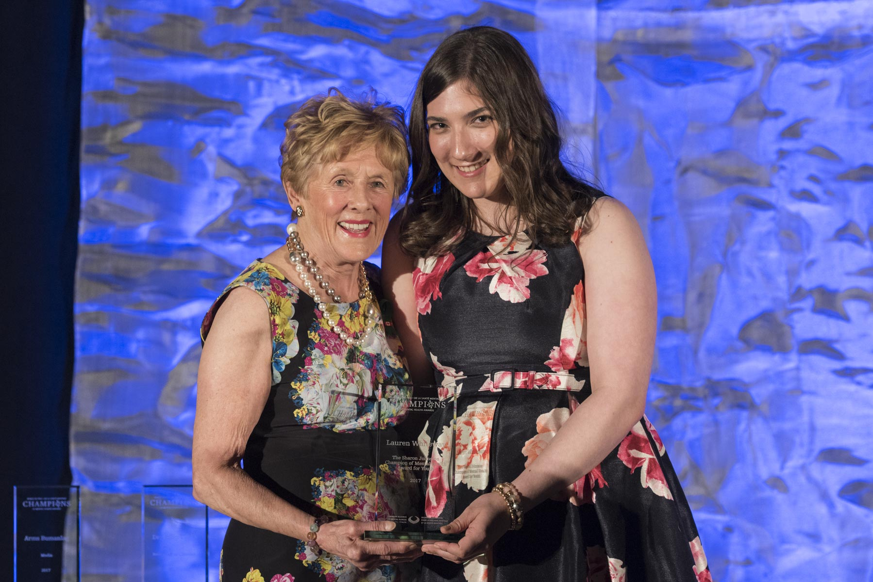 It was with great pride that Mrs. Johnston presented to her The Sharon Johnston Champion of Mental Health Award for Youth. This award is presented to a Canadian who is 21 years old or younger and who has shown leadership in his or her community by promoting mental health or mental illness awareness.