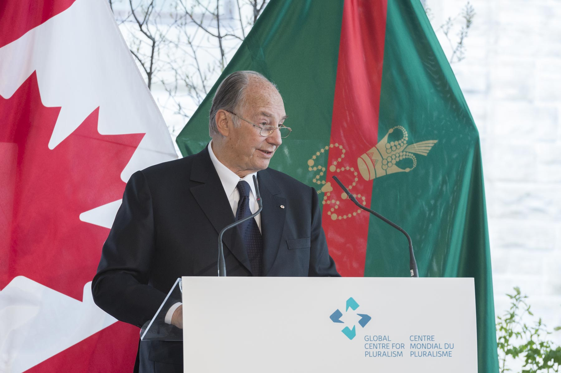 His Highness the Aga Khan greeted guests.