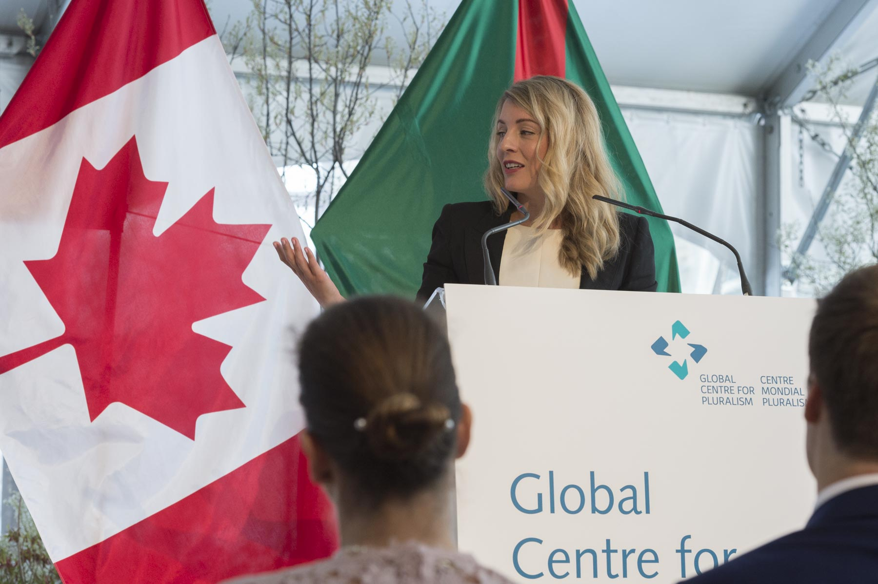 The Honourable Mélanie Joly, Minister of Canadian Heritage, also delivered an address.