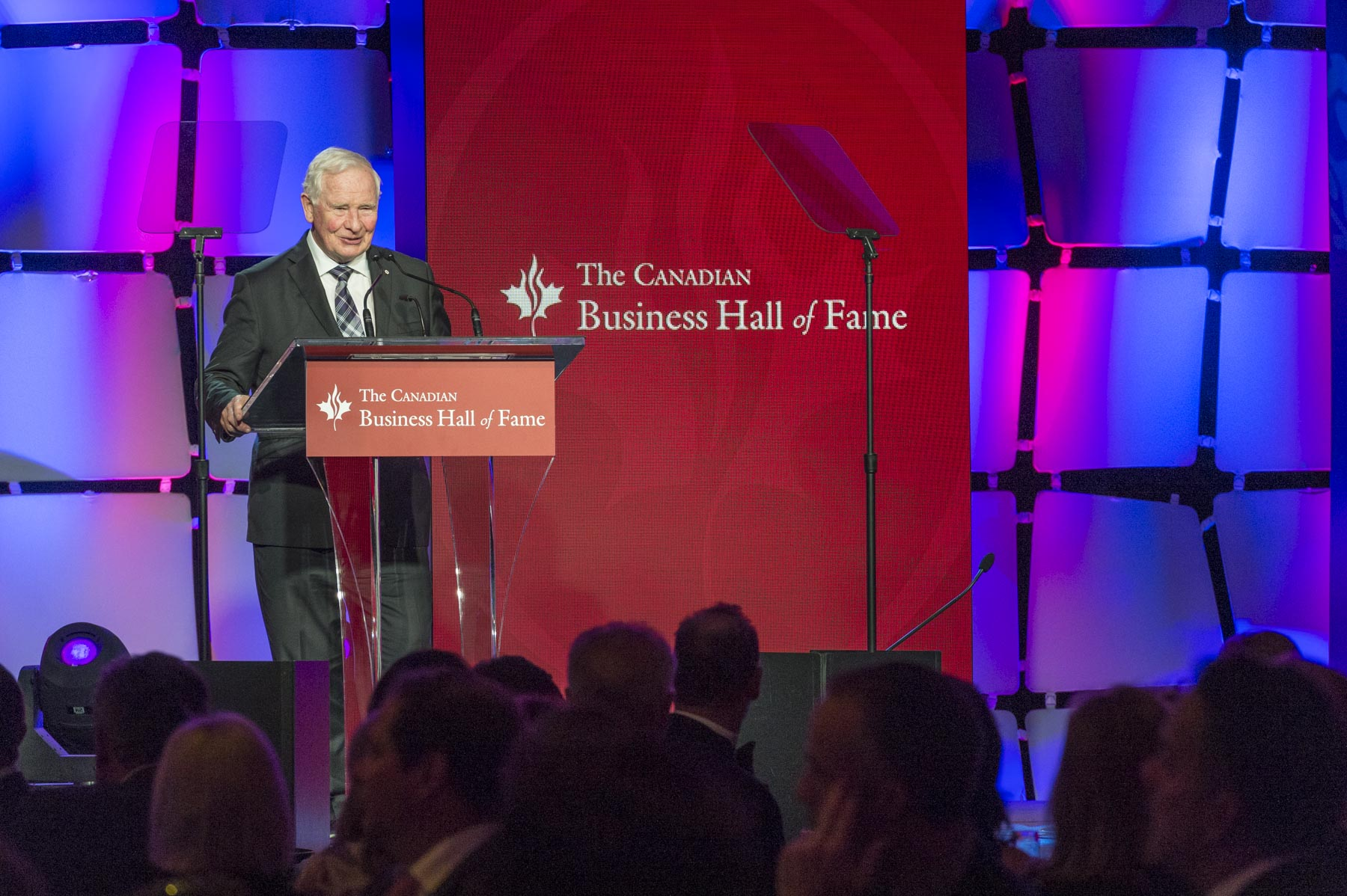 """It's a pleasure to be here to celebrate the inductees into the Canadian Business Hall of Fame. Alain Bouchard, Tom Jenkins, Clay Riddell and Nancy Southern have made such powerful and significant impacts on the Canadian economy. Their ideas and actions have shaped our success at home and on the international stage,"" said the Governor General."