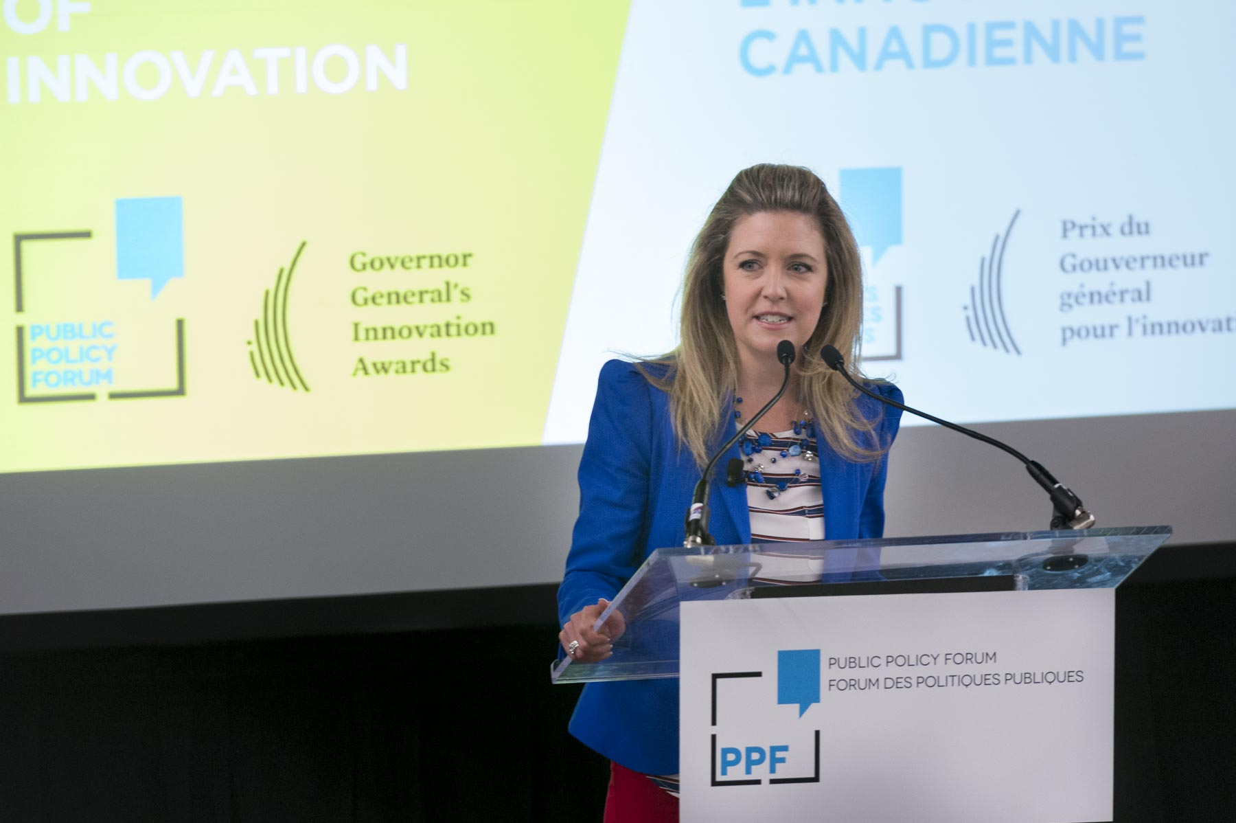 Catherine Clark moderated a conversation with the recipients of the 2017 Governor General's Innovation Awards.