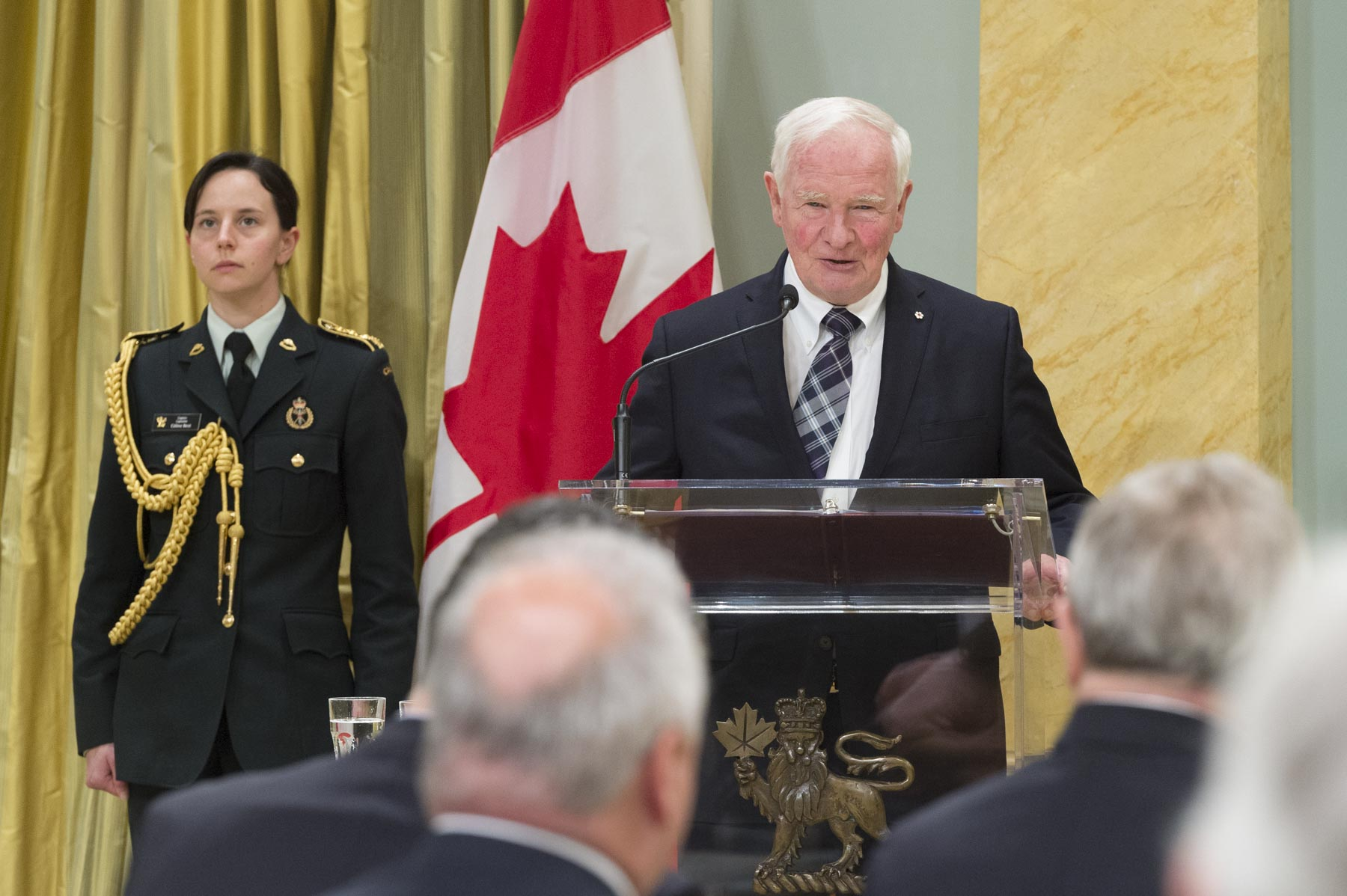 """With this medal, we honour and celebrate your lifelong pursuit of a more fair and just world, a world in which all people have the fundamental rights to life, dignity and protection from harm,"" said the Governor General."