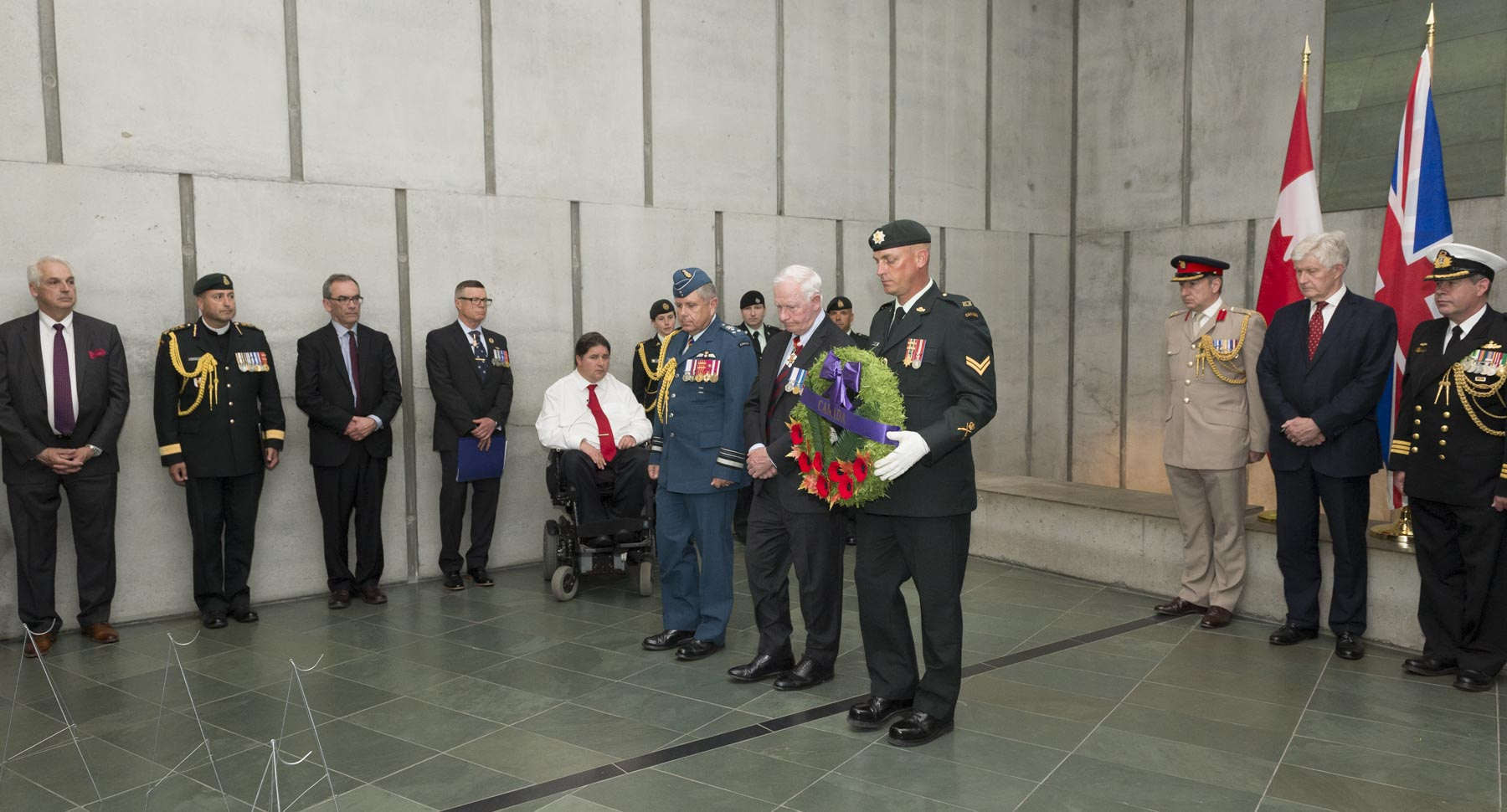 His Excellency the Right Honourable David Johnston, Governor General and Commander-in-Chief of Canada, attended the ceremony marking the centennial of the Commonwealth War Graves Commission (CWGC) at the Canadian War Museum on June 13, 2017.