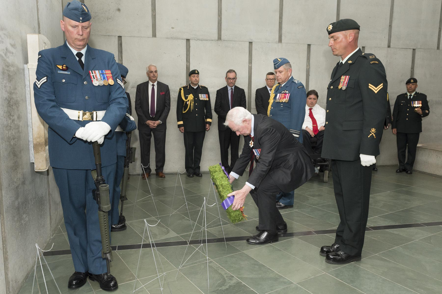 On this occasion, the Governor General, along with CWGC member government representatives, laid a wreath in Memorial Hall.