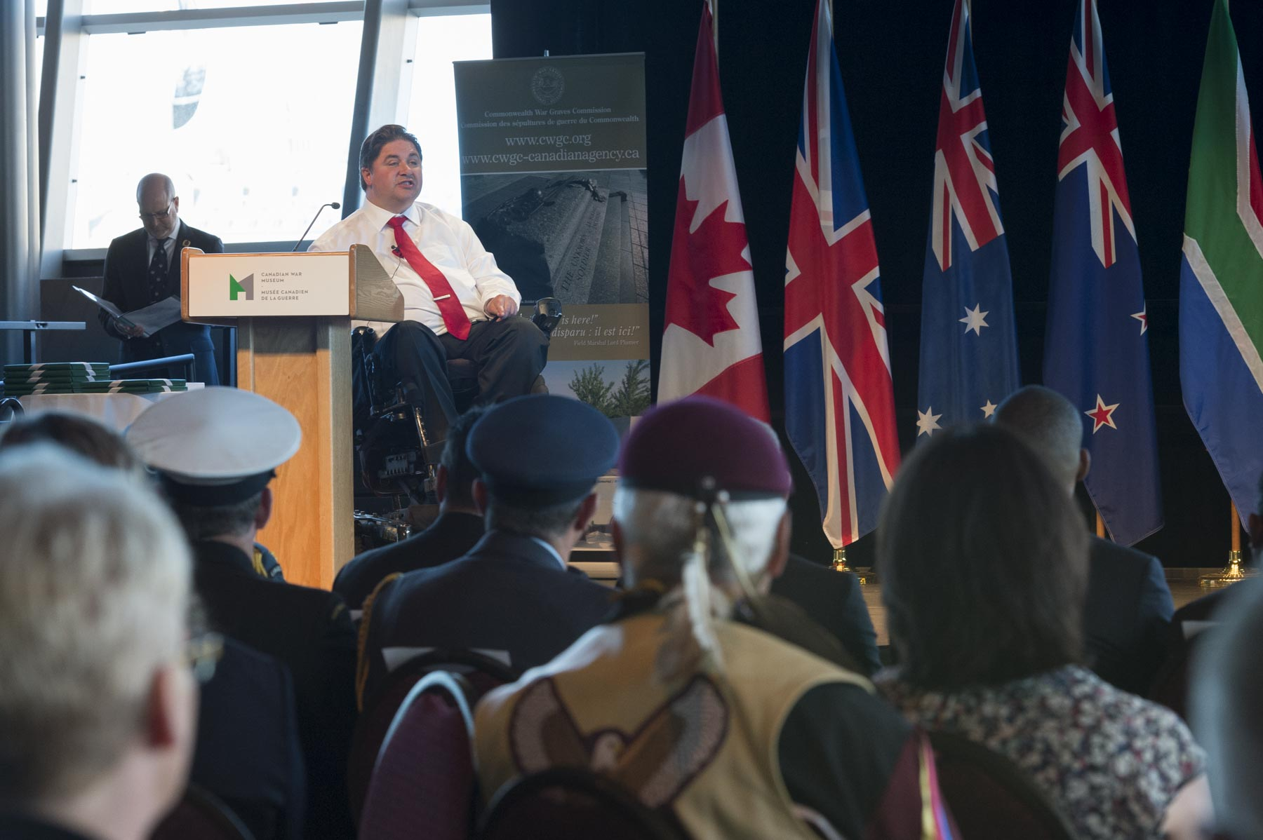 The Honourable Kent Hehr, Minister of Veterans Affairs and Associate Minister of National Defence, also delivered remarks.