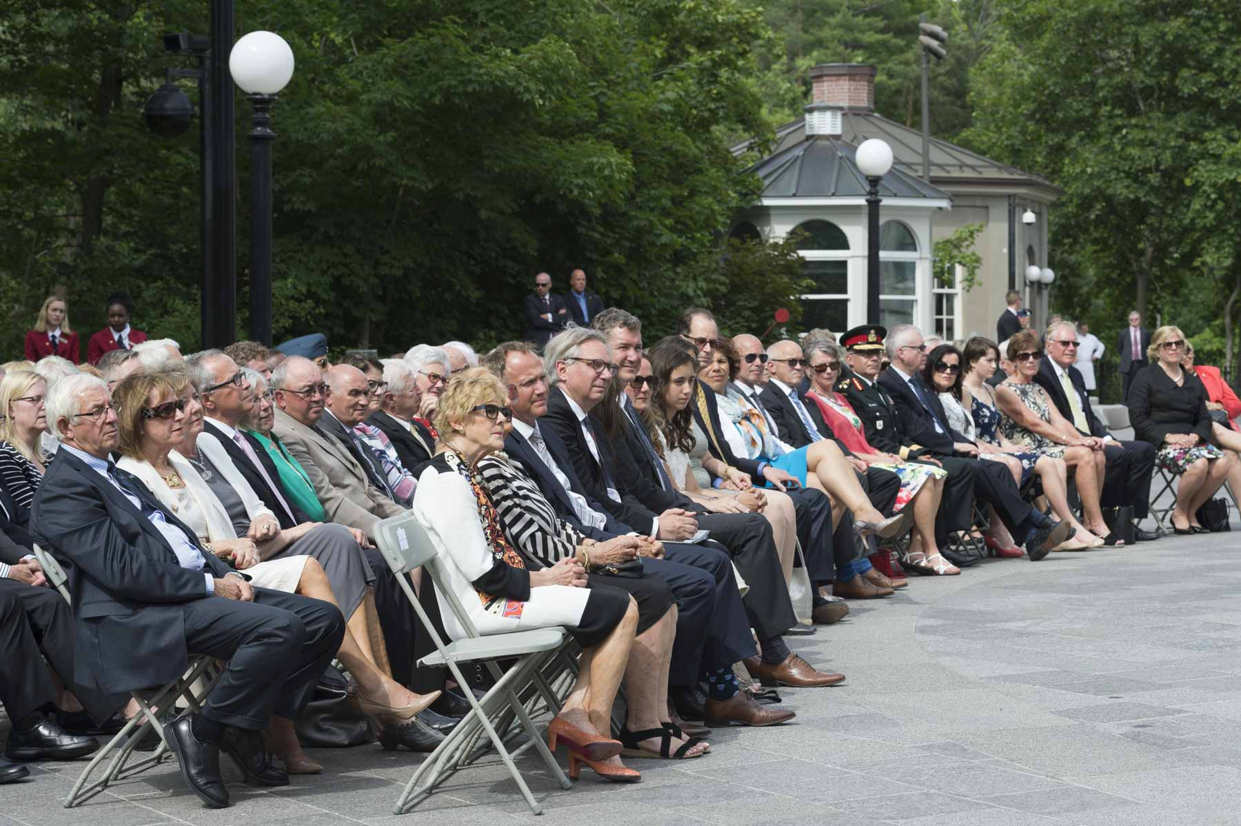 Lieutenant Governors and Territorial Commissioners of Canada, National Capital Commission representatives, donors and special guests attended the ceremony.