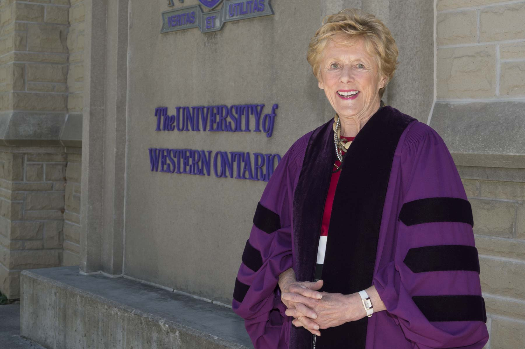 Her Excellency Sharon Johnston received the degree of Doctor of Laws, honoris causa, from Western University, in London, Ontario.