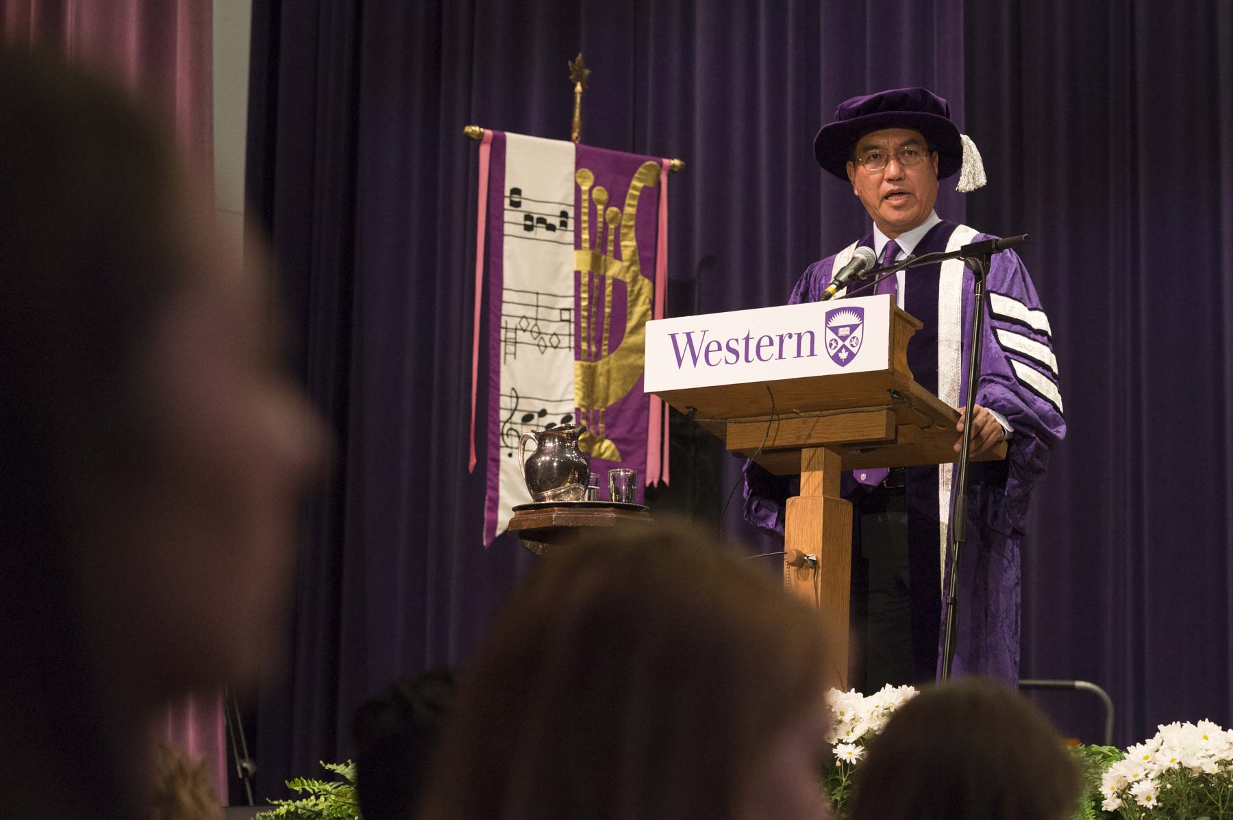 Western University's president and vice-chancellor, Mr. Amit Chakma, delivered opening remarks.