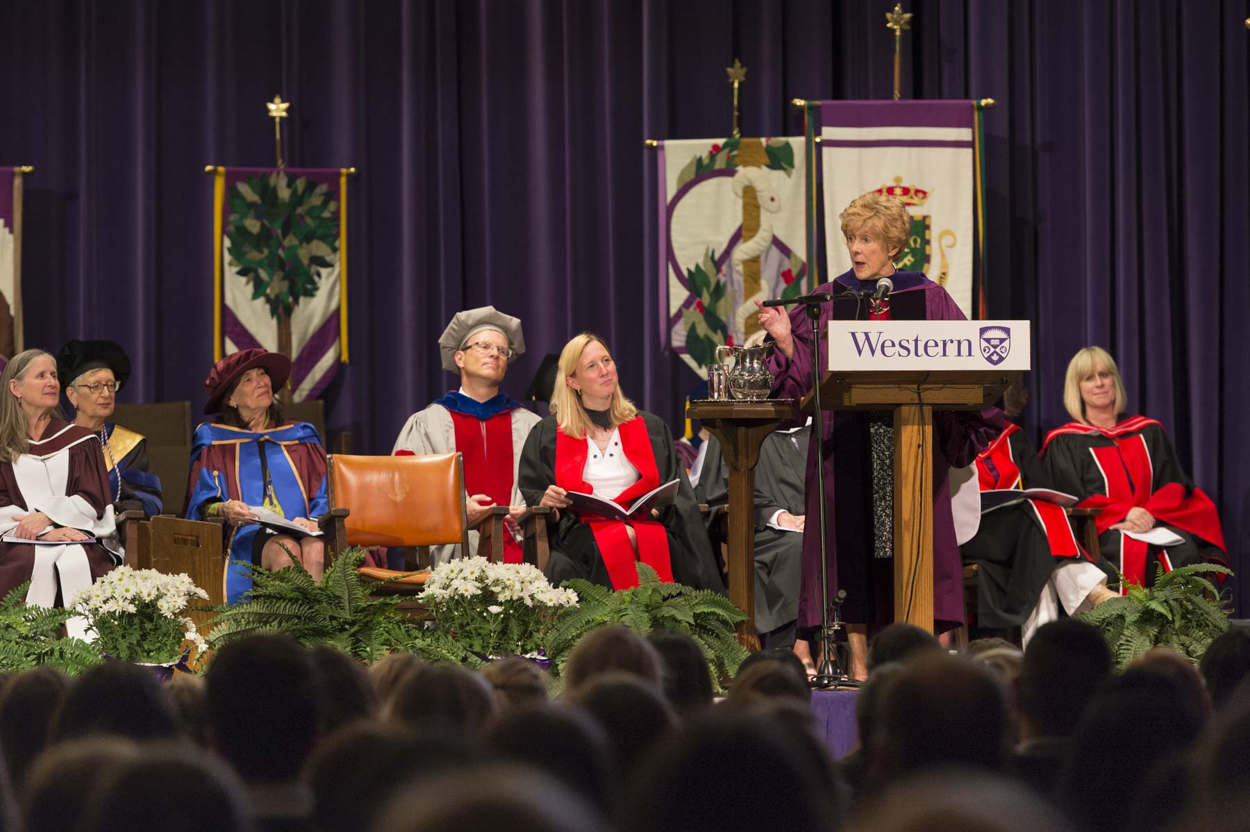 """As lawyers and nurses, you will be among the most respected persons in your communities,"" said Her Excellency. ""You will be leaders. In your professions, you will be able to support, advise, direct and encourage people with mental health issues throughout your careers. And many of you will be able to participate in treatment, research, policy development and even legislation which, like the changes I saw back in the 1970s, will redefine how Canadians think about and care for people who society once looked at with judgment and fear. I thank you now for using your education and intellect to help make a difference."""