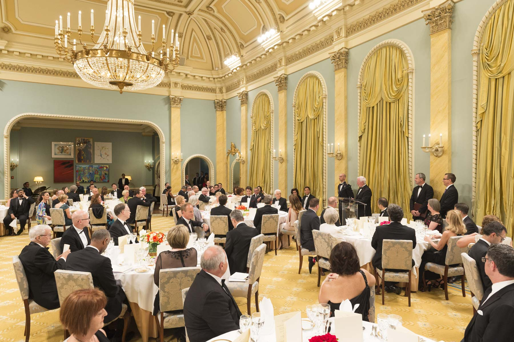 The State dinner took place in the Ballroom.