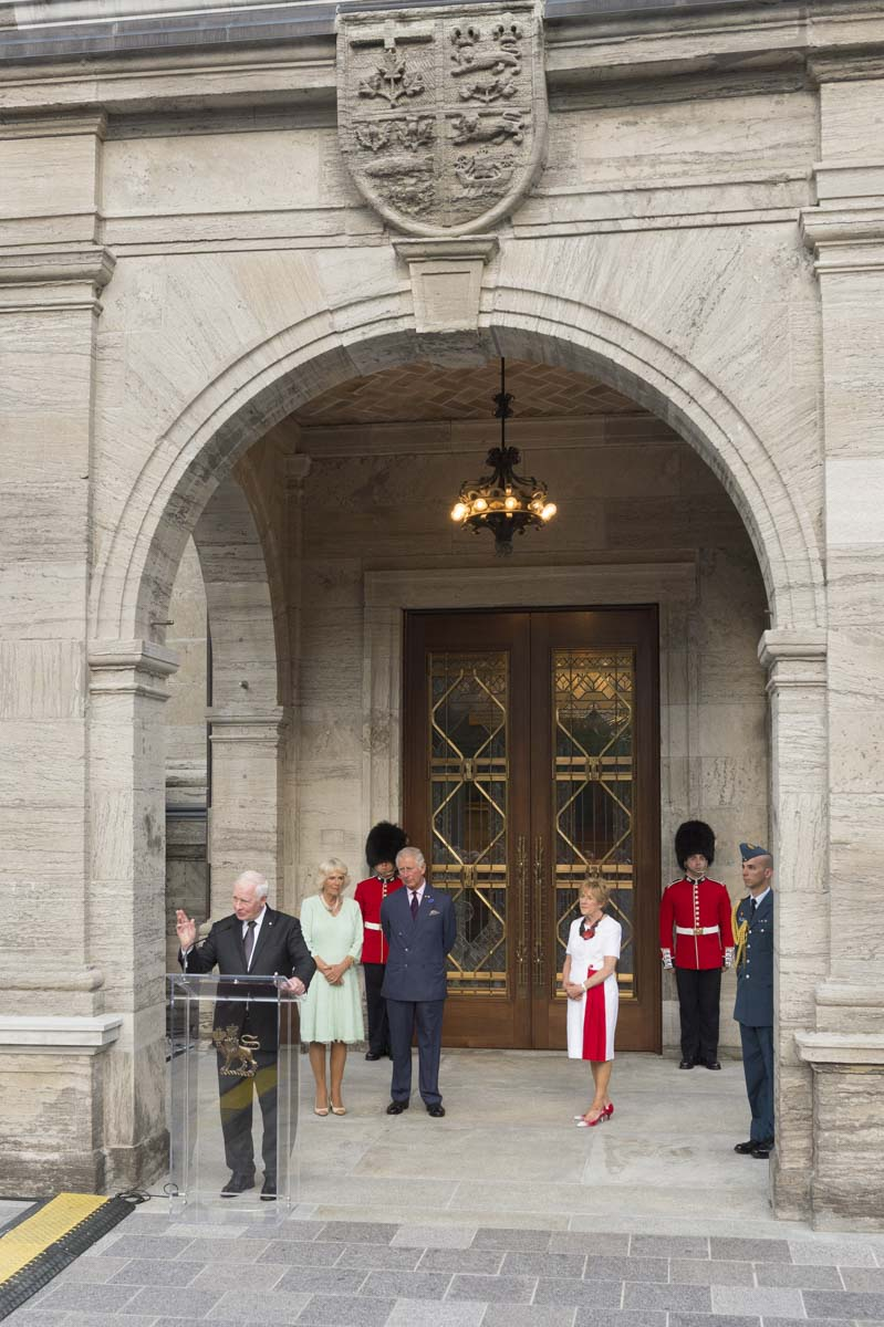 """Today, a new chapter of that story begins. It's a chapter carved in the wood, etched in the glass and forged in the bronze of these new doors, which we inaugurate today as The Queen's Entrance in tribute to Her Majesty The Queen, who has served Canada with such dedication and distinction for 65 years,"" said the Governor General."