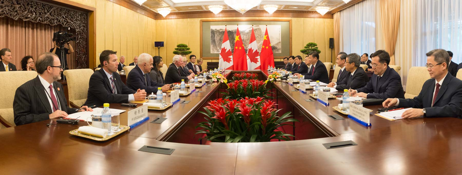 The purpose of their meeting was to reinforce Canada and China's long-standing relations.