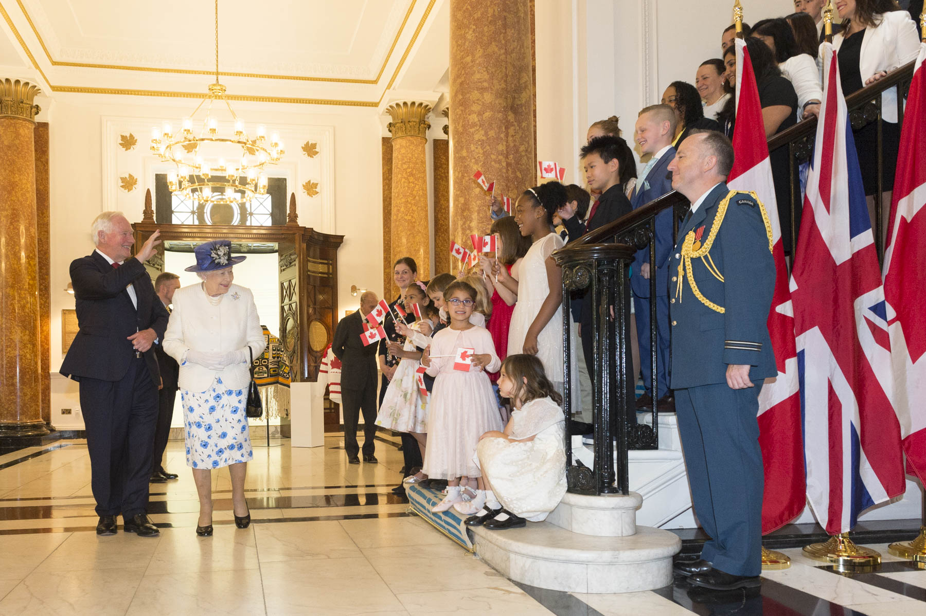 On this occasion, The Queen and The Duke of Edinburgh had the opportunity to meet 