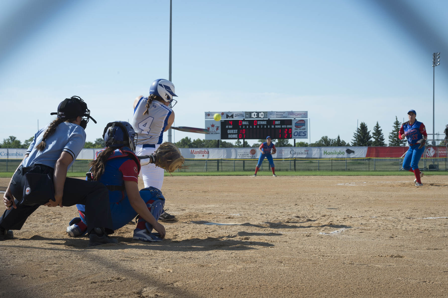 Alberta and British Columbia played for the gold medal. British Columbia won the game 10 to 3.