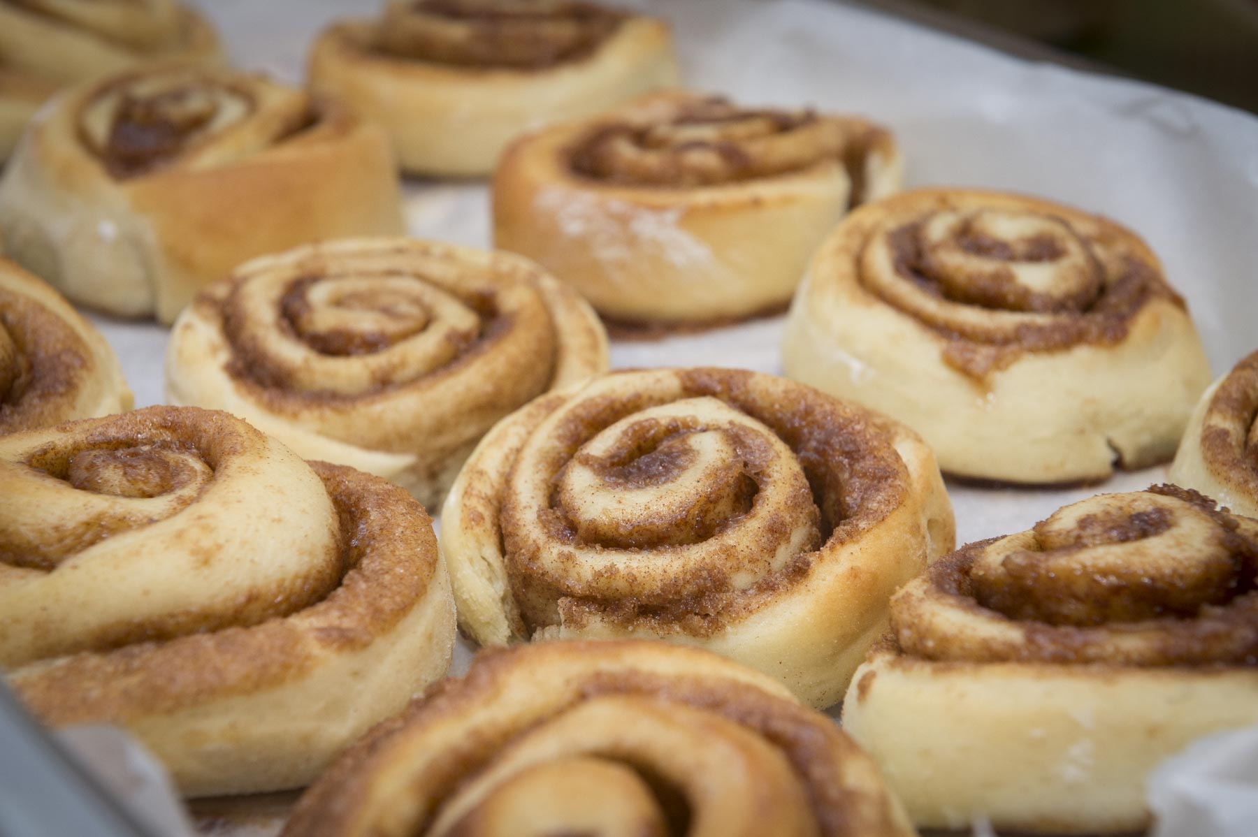 Together, they baked cinnamon buns that were served for the afternoon snack.