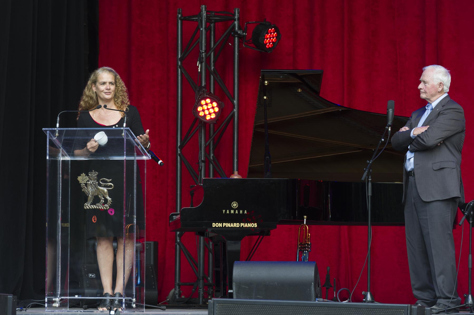 With an eye to the future, Ms. Julie Payette, Governor General Designate, said a few words to Order of Canada members during this historical gathering.