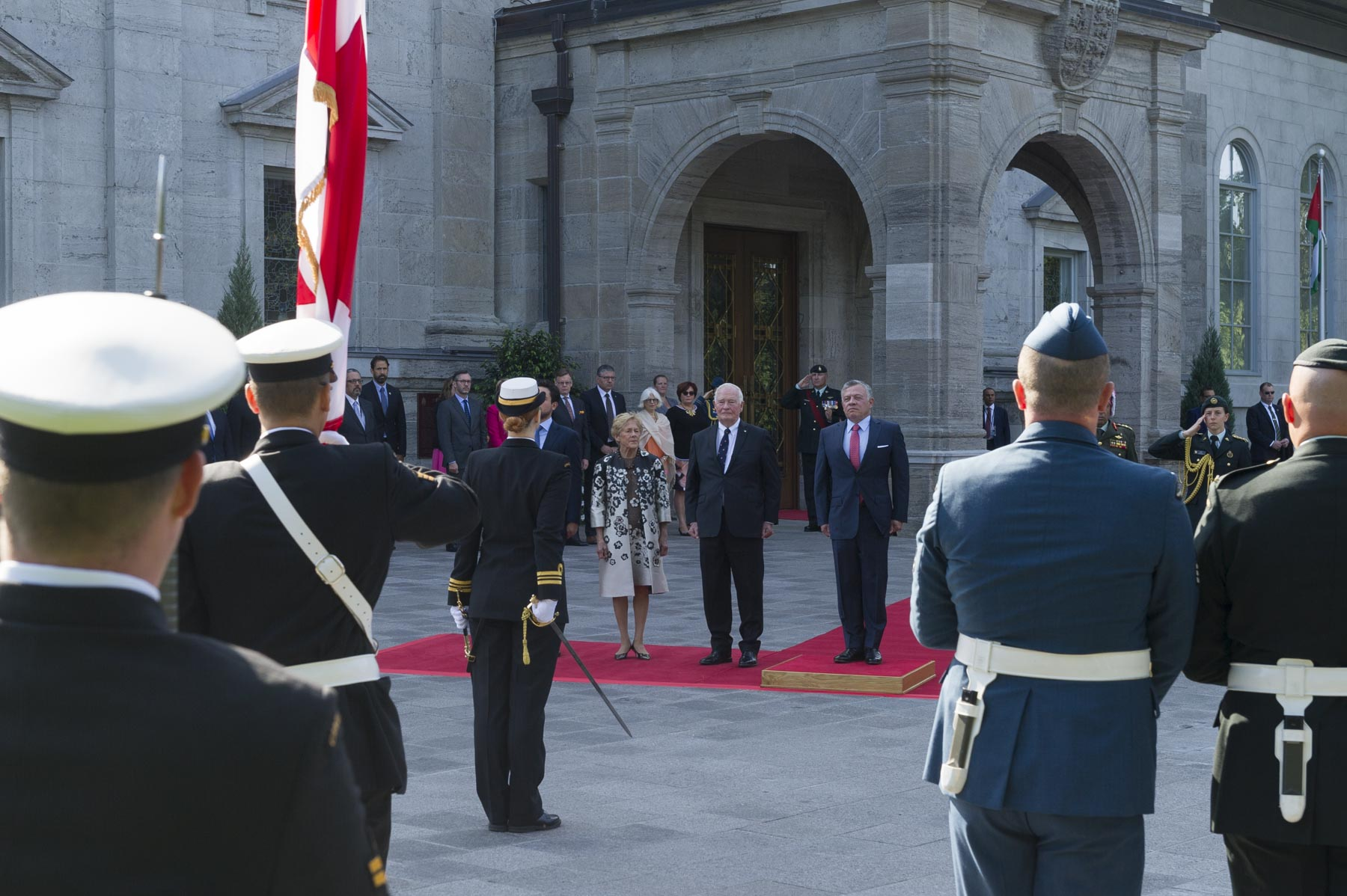 Their Excellencies were pleased to welcome His Majesty King Abdullah II ibn Al Hussein of the Hashemite Kingdom of Jordan on the occasion of his State visit to Canada on August 28, 2017.