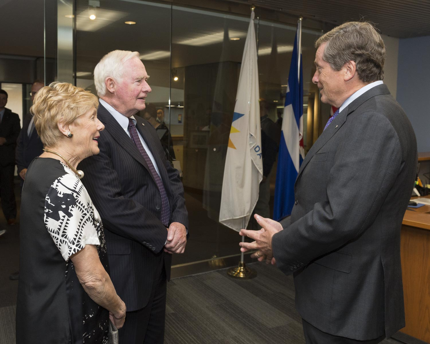 Later in the afternoon, Their Excellencies met with His Worship John Tory, Mayor of Toronto.