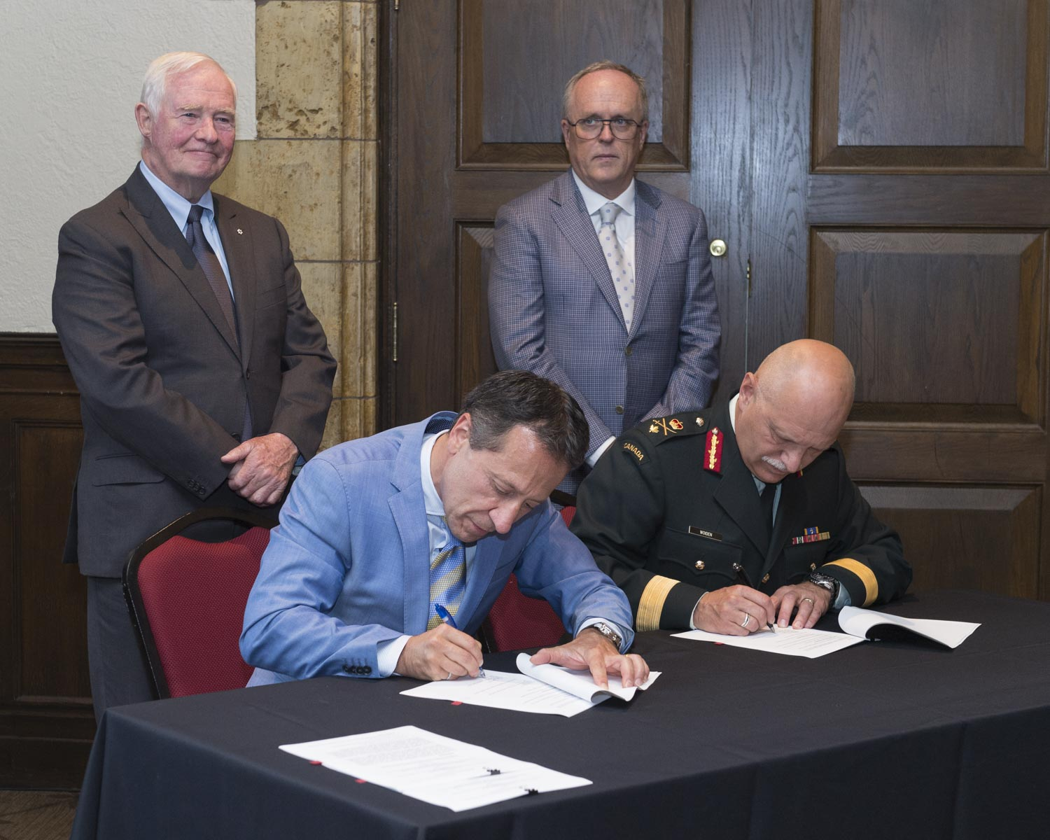 The Governor General acted as a witness to the signing of a memorandum of understanding (MOU) between the Canadian Cadet Organization and the Duke of Edinburgh's International Award Program.