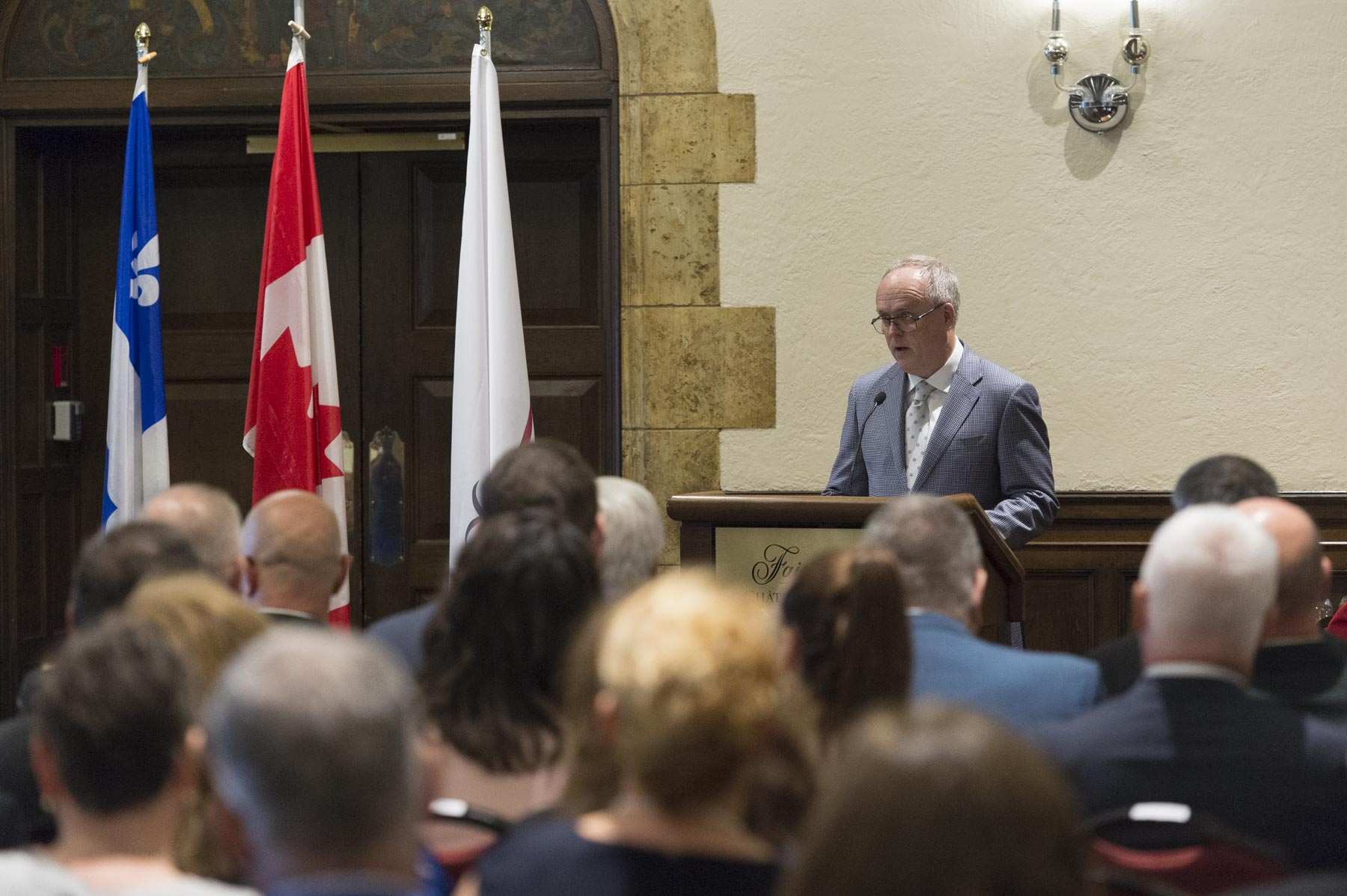 Mr. Grant Hamilton, president of Quebec wing of Duke of Edinburgh's International Award Program, welcomed recipients and their parents to The Duke of Edinburgh's Gold Awards of Achievement ceremony, held on September 11, 2017.