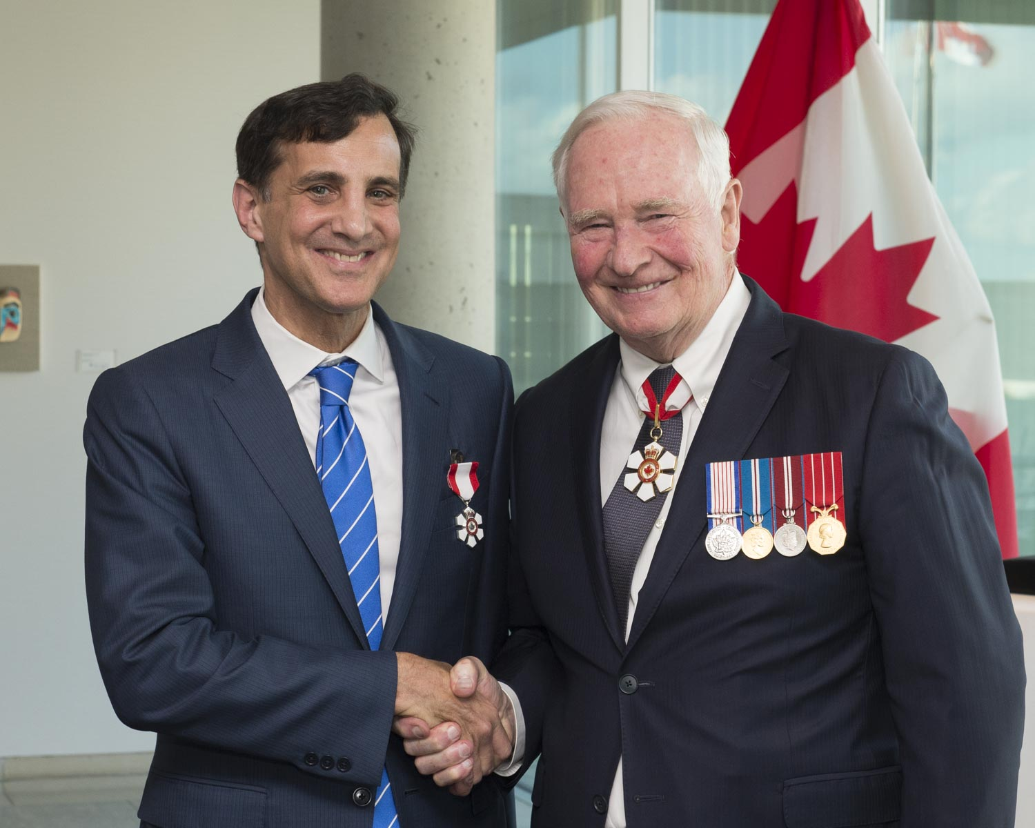 During this visit, His Excellency invested Mr. Ronald J. Daniels as a Member of the Order of Canada. 