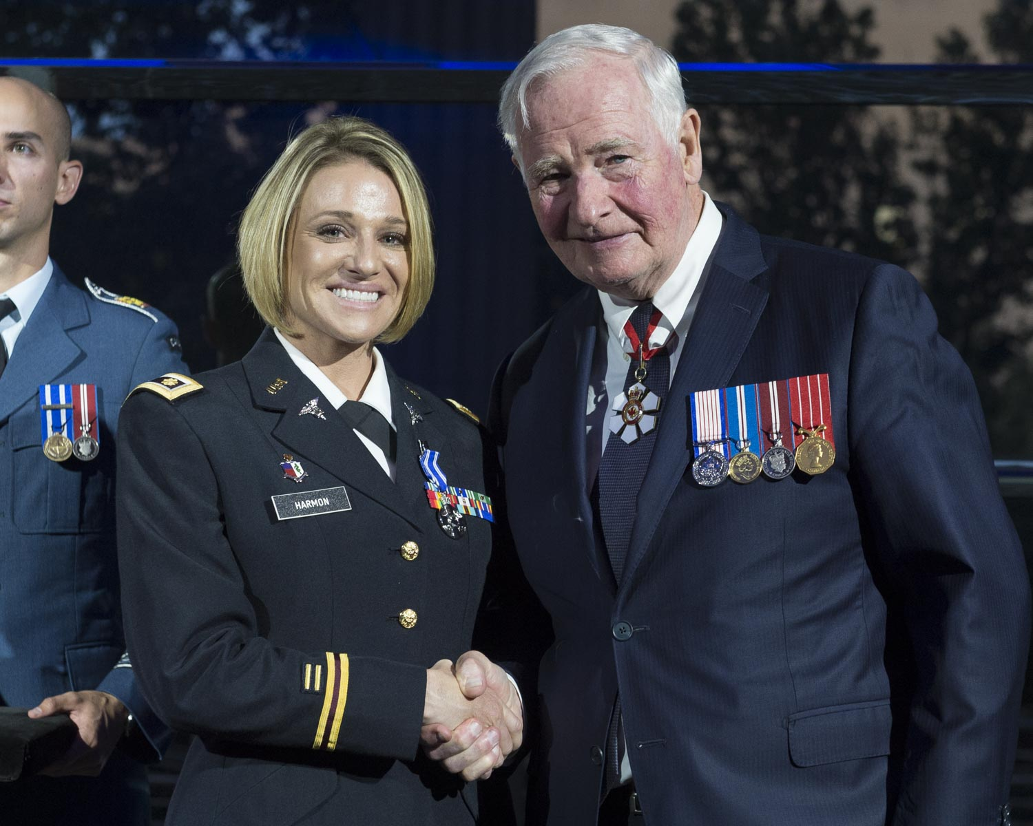 Between December 2015 and January 2016, Major Harmon, then Captain, demonstrated great leadership and initiative as the re-integration specialist of a Canadian citizen held hostage in Afghanistan. She designed and implemented a psychological support package, which laid the groundwork for the recovery of this Canadian and of future hostages. Major Harmon's professionalism and dedication greatly contributed to enhancing relations between Canada and the United States.