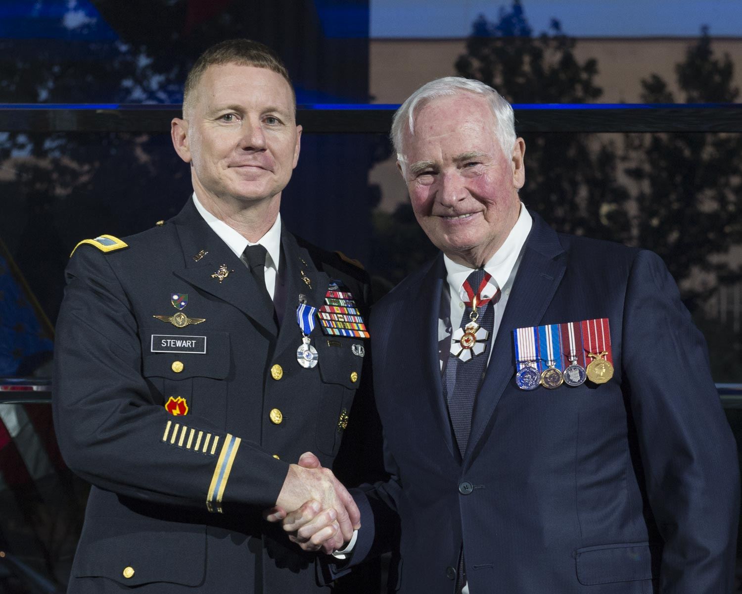 From 2013 to 2015, Colonel Stewart consistently demonstrated exemplary leadership and outstanding professionalism as deputy chief of staff operations at the Canadian Joint Operations Command in Ottawa, Ontario. Moreover, his work ethic, planning and organizational skills enabled him to make a direct and meaningful contribution to Canadian Armed Forces' domestic and expeditionary operational success. Colonel Stewart's dedication and commitment has brought great honour and recognition to Canada.