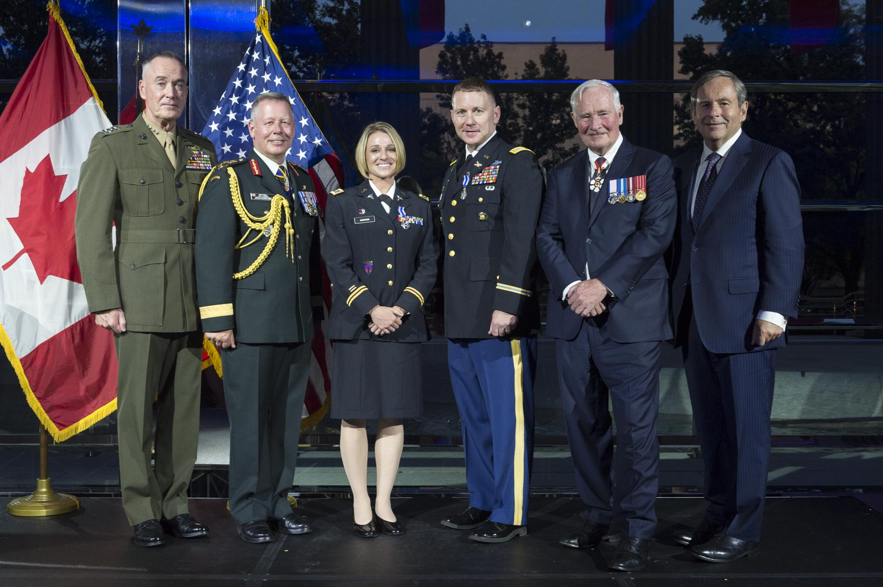 During this reception, His Excellency presented the Meritorious Service Medal (Military Division) to Major Jessica Harmon and Colonel Jeffery Stewart, members of the United States Army. 