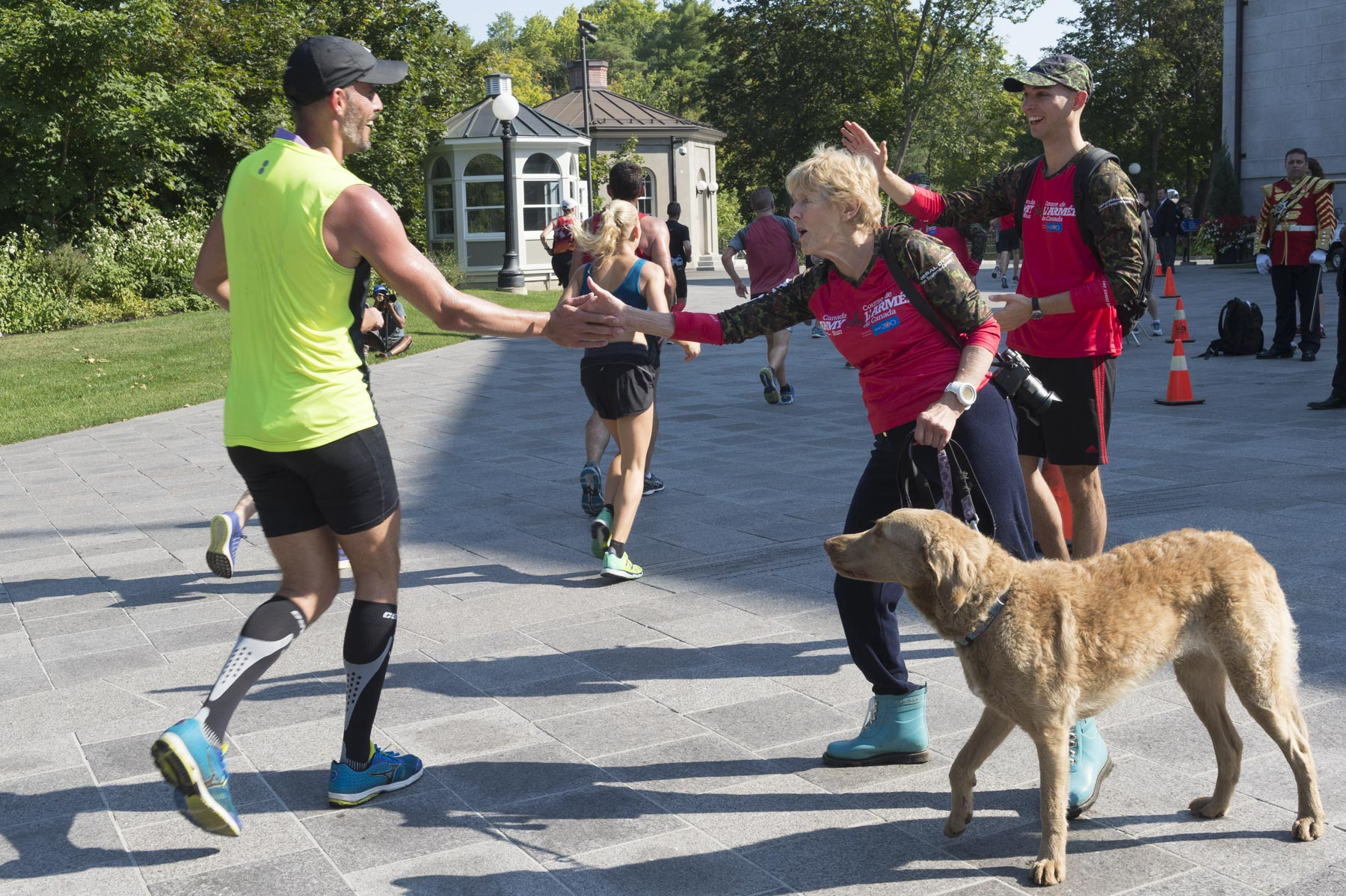 The half-marathon course led participants up the Main Drive and off the grounds of Rideau Hall via the Princess Gate.