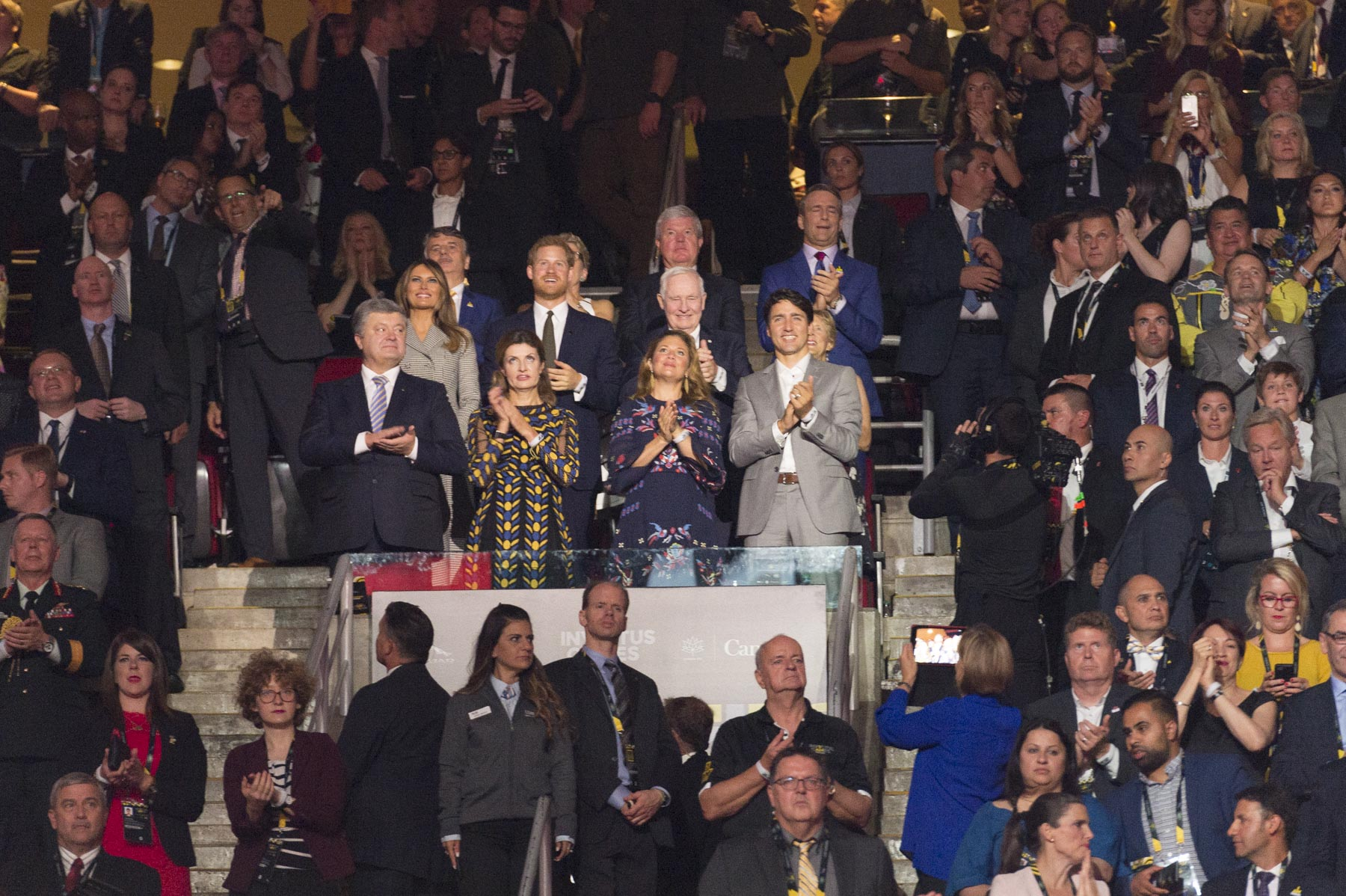 In attendance were Their Excellencies, His Royal Highness Prince Harry, the Prime Minister of Canada Justin Trudeau and his wife Sophie-Grégoire Trudeau.