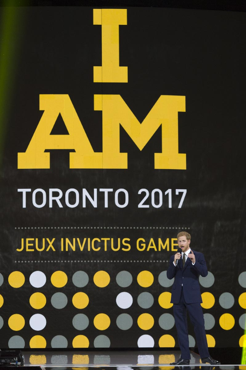 As Patron of the Invictus Games, Prince Harry talked about the importance of the Games and what they mean to competitors and their families. Following a visit in 2013 to the U.S.-based Warrior Games for wounded, ill and injured military personnel and veterans, Prince Harry was inspired to create an expanded international version. The inaugural Invictus Games took place in London in the fall of 2014 and attracted more than 400 competitors from 13 countries.