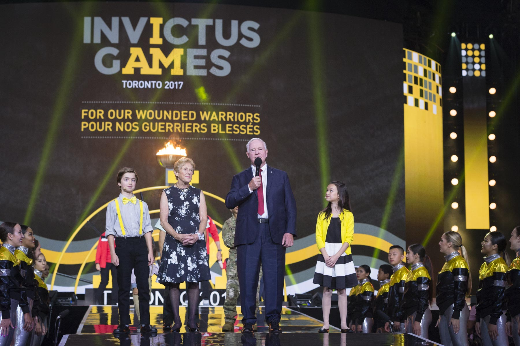 The Governor General had the great honour of officially opening the Invictus Games.
