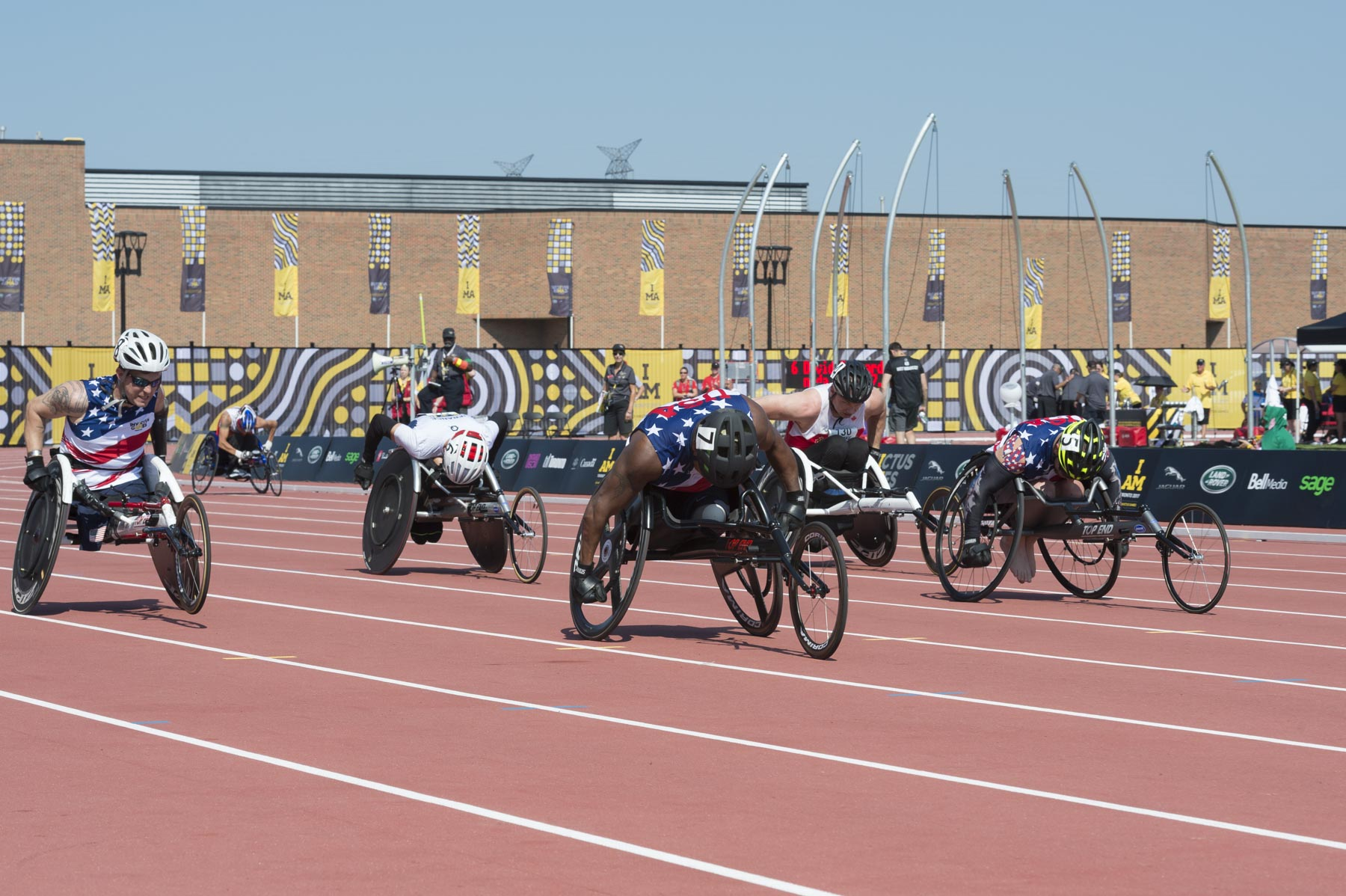 The next race was the men's 100-metre in a wheelchair.
