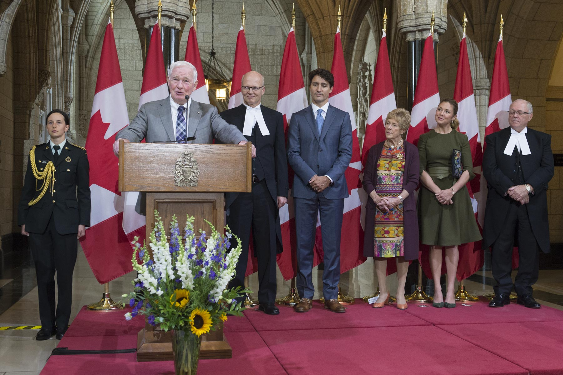 """Parliament is where we resolve issues through words, rather than force, and that is why your success as parliamentarians is so critical to the smarter, more caring Canada and the fairer, more just world of which we dream,"" said the Governor General."