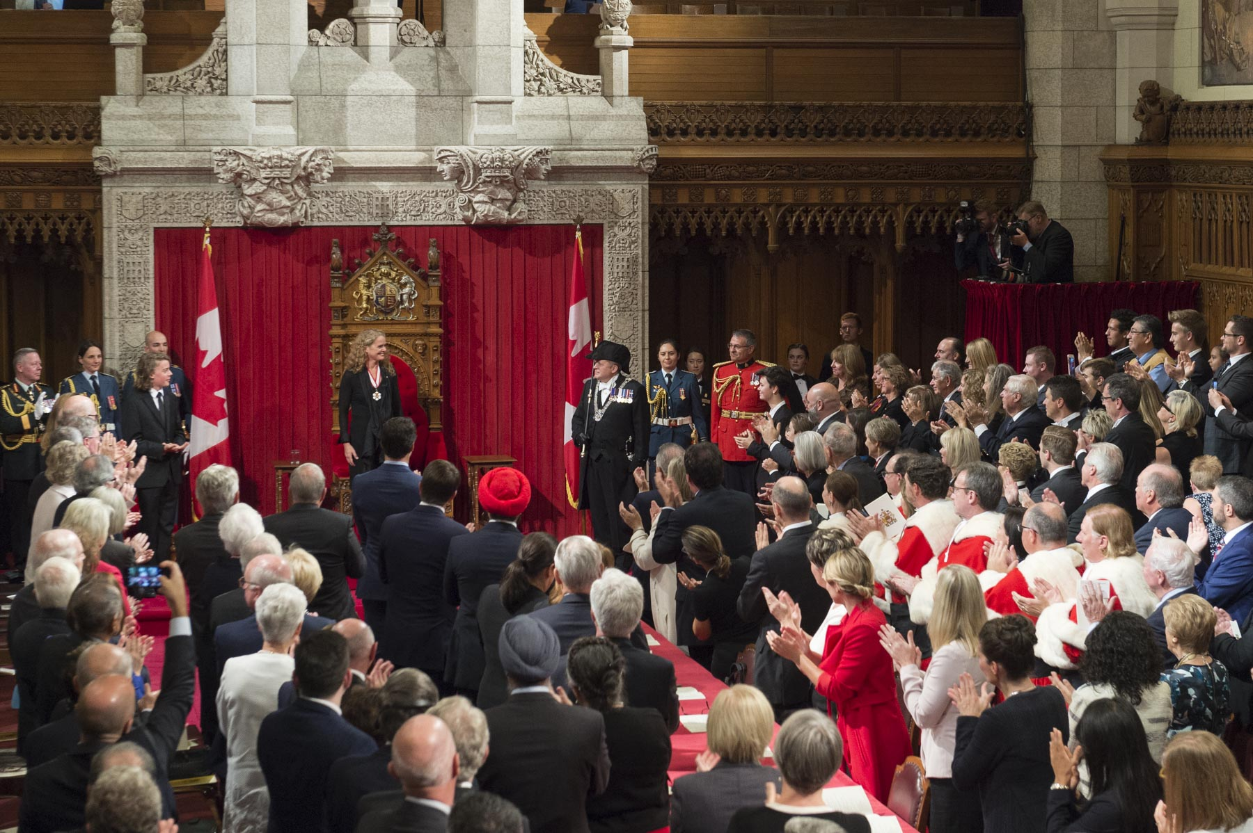Those in attendance warmly applauded Ms. Payette as the new Governor General of Canada.