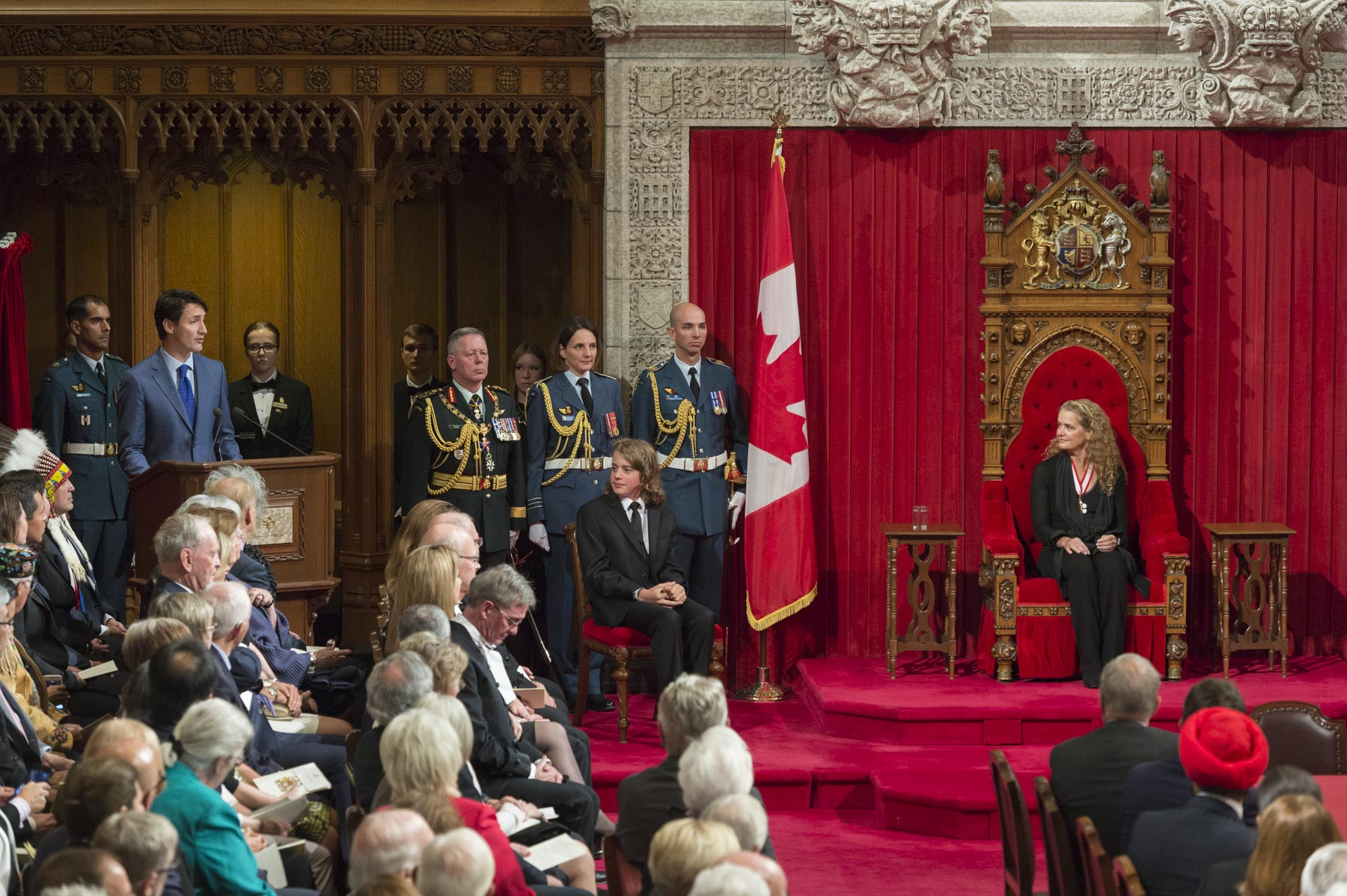 The Right Honourable Justin Trudeau, Prime Minister of Canada, addressed those in attendance.