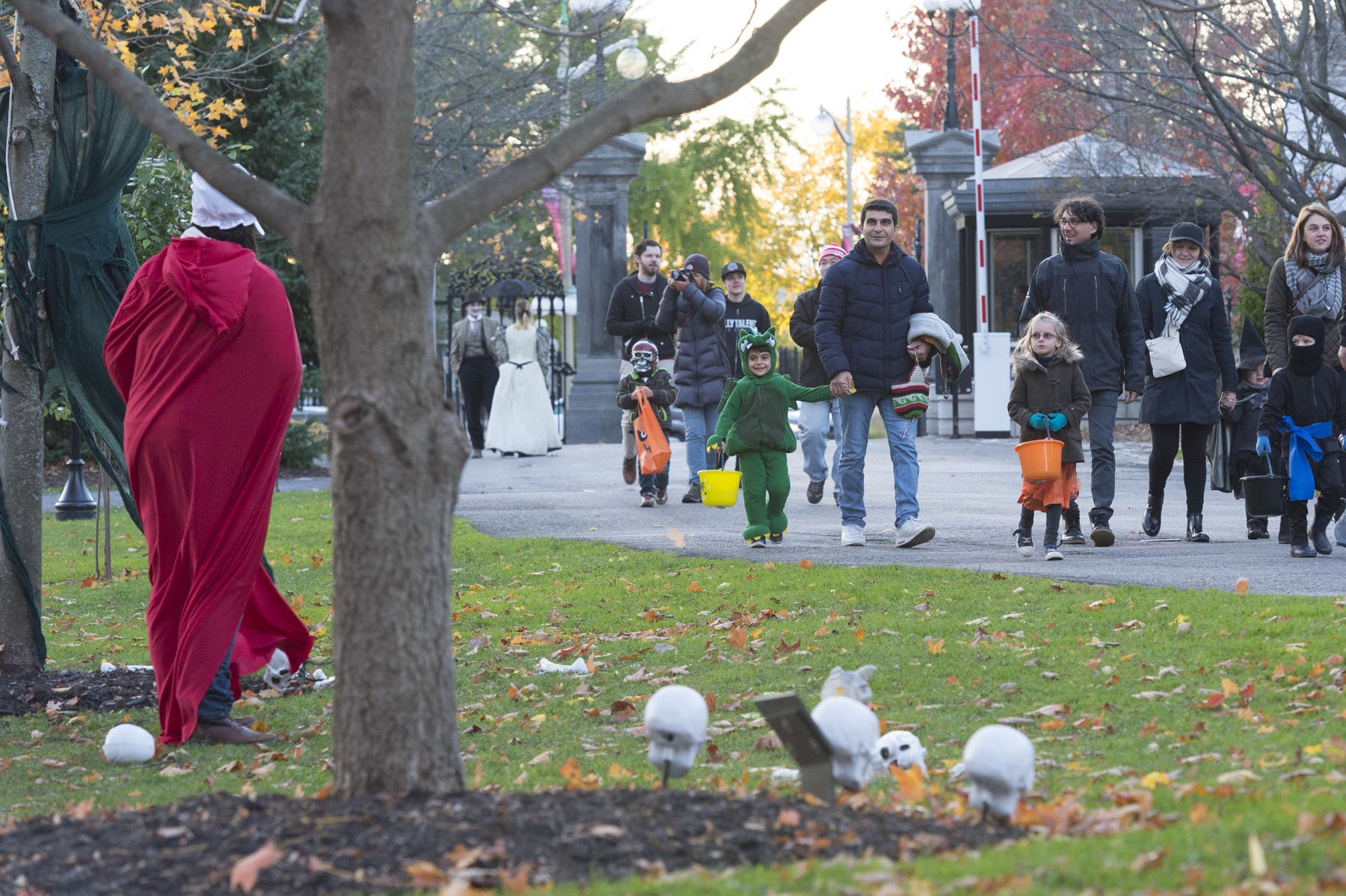 On Halloween night, the grounds of Rideau Hall were transformed into a haunted Victorian cemetery.
