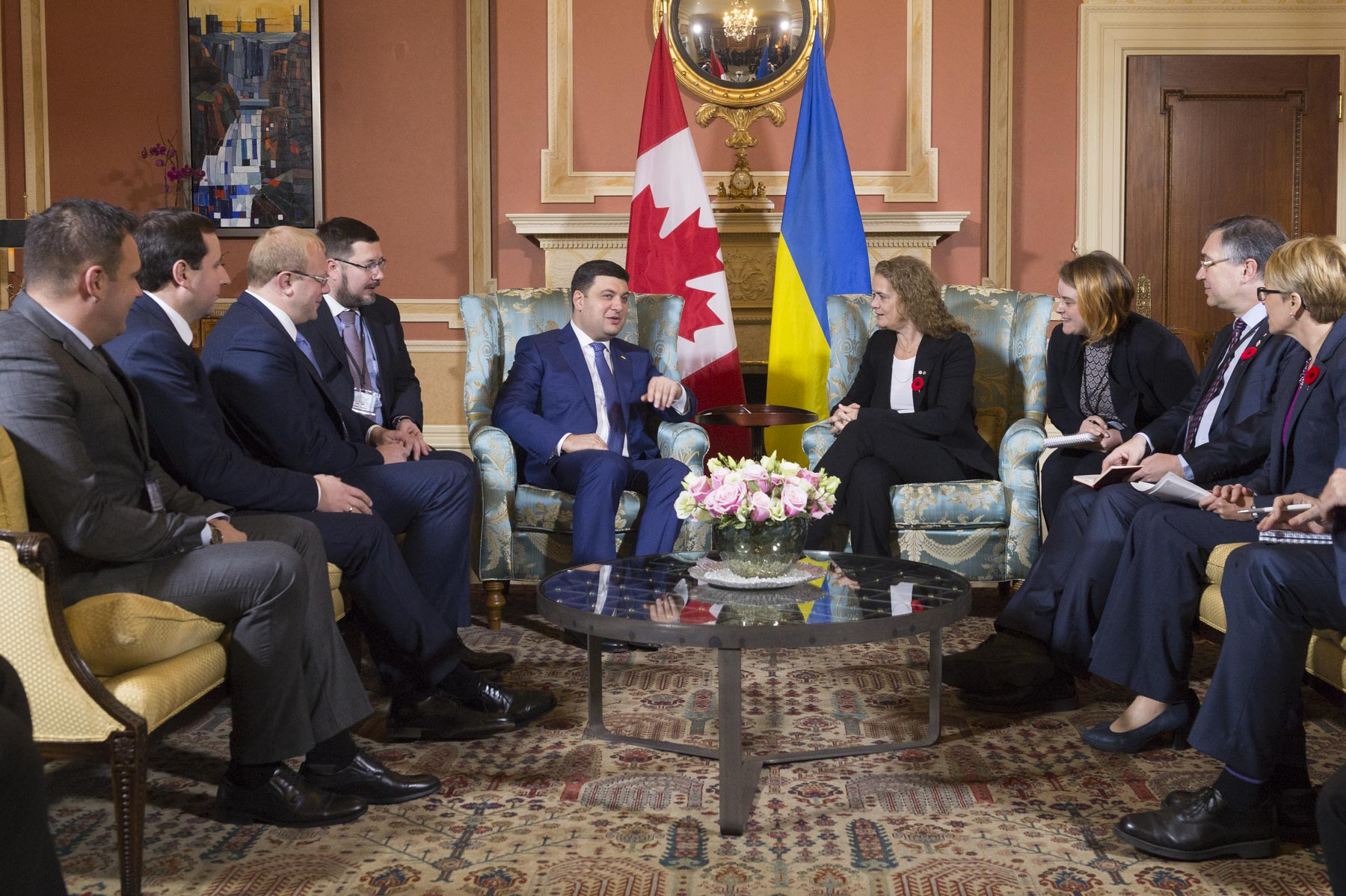 This meeting allowed for discussions on Canada-Ukraine relations.