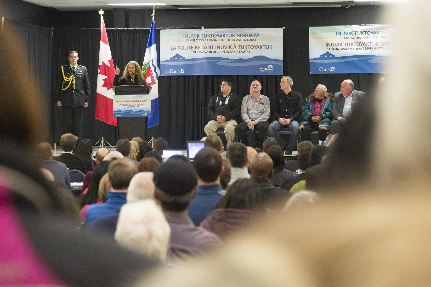 This full day event started with a ceremony in Inuvik, where Her Excellency delivered remarks to mark this historical.
