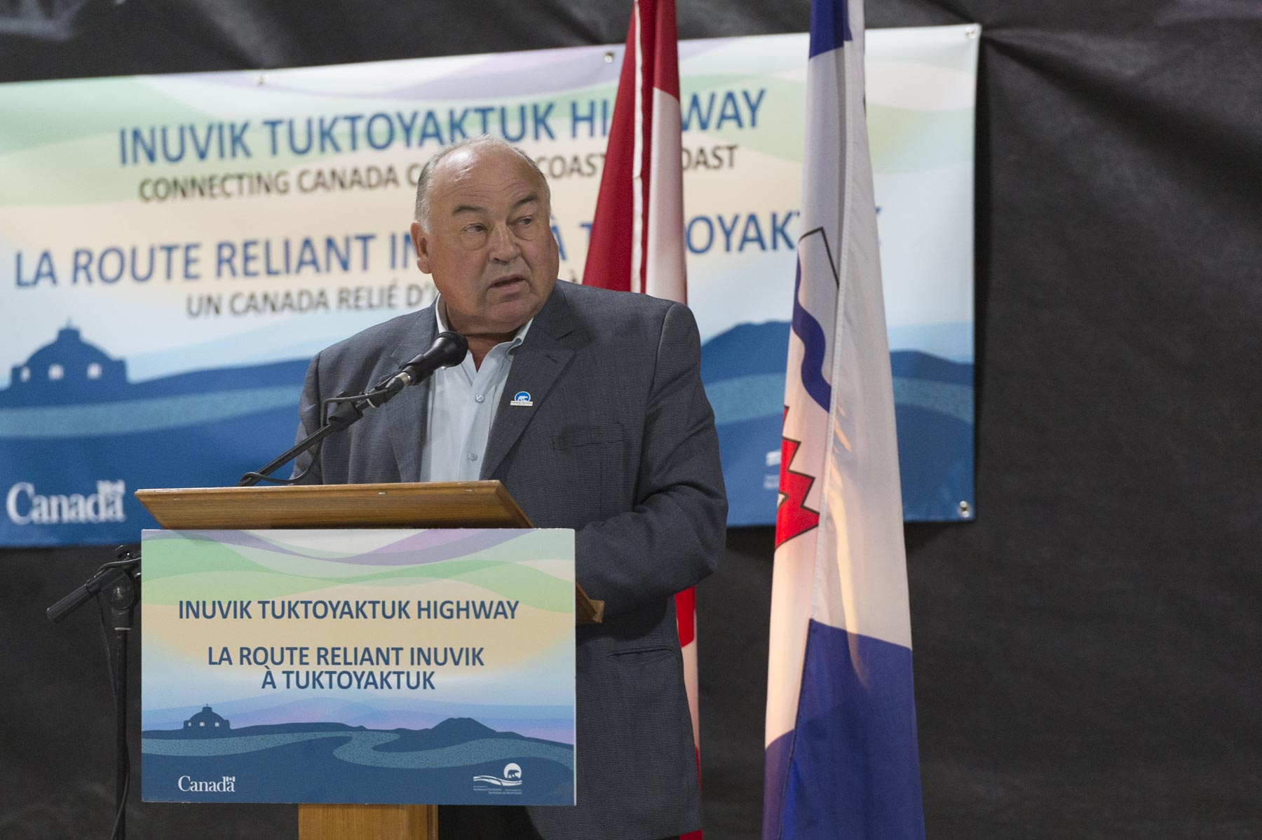 The Honourable Robert McLeod, Premier of the Northwest Territories also delivered remarks.