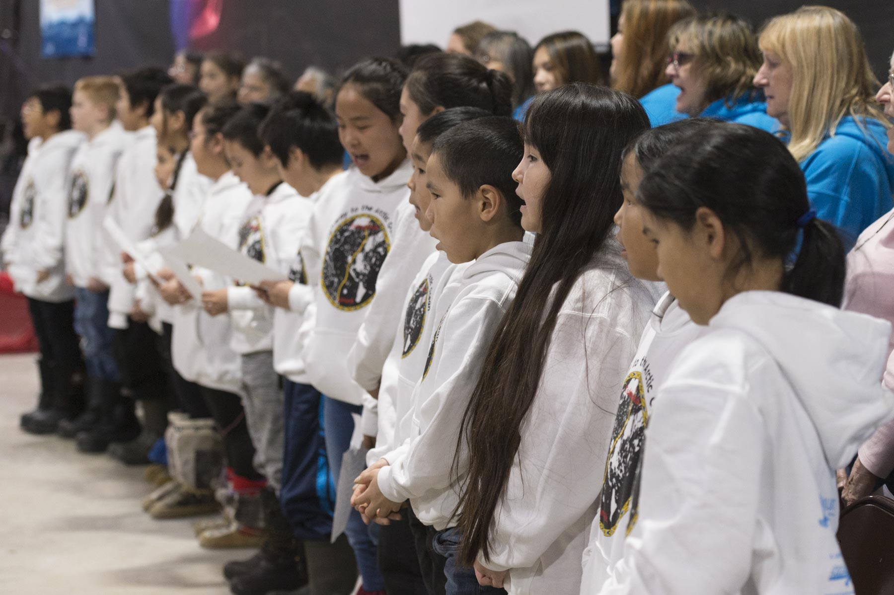 During the ceremony, local youth sang the Canadian Anthem.