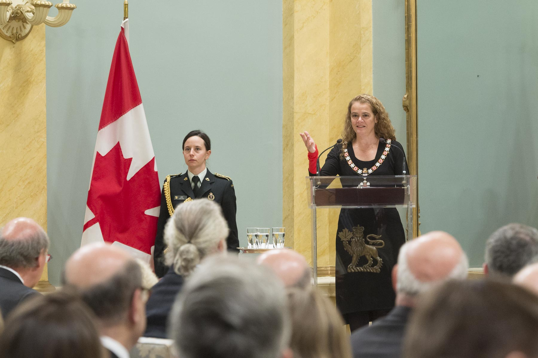 During her speech, the Governor General said that Order of Canada recipients believe in making a difference both in our country and around the world.