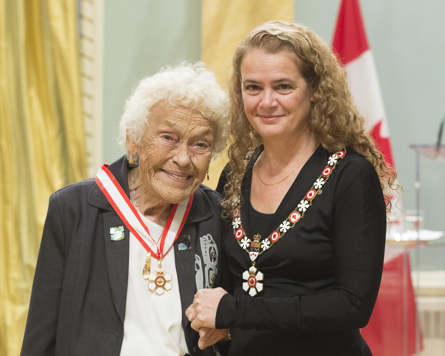 Gloria Cranmer Webster, O.C., has devoted her life to the preservation and celebration of Indigenous culture and traditions. She was the founding director and curator of the U'mista Cultural Centre in Alert Bay, which preserves and promotes the cultural heritage of the Kwakwaka'wakw and houses a collection repatriated from the Canadian Museum of History. A proud 'Namgis, she has lent her expertise in anthropology and museology to numerous exhibits within Canada and abroad. Through her wisdom and determination, she has helped foster greater public knowledge of her heritage.