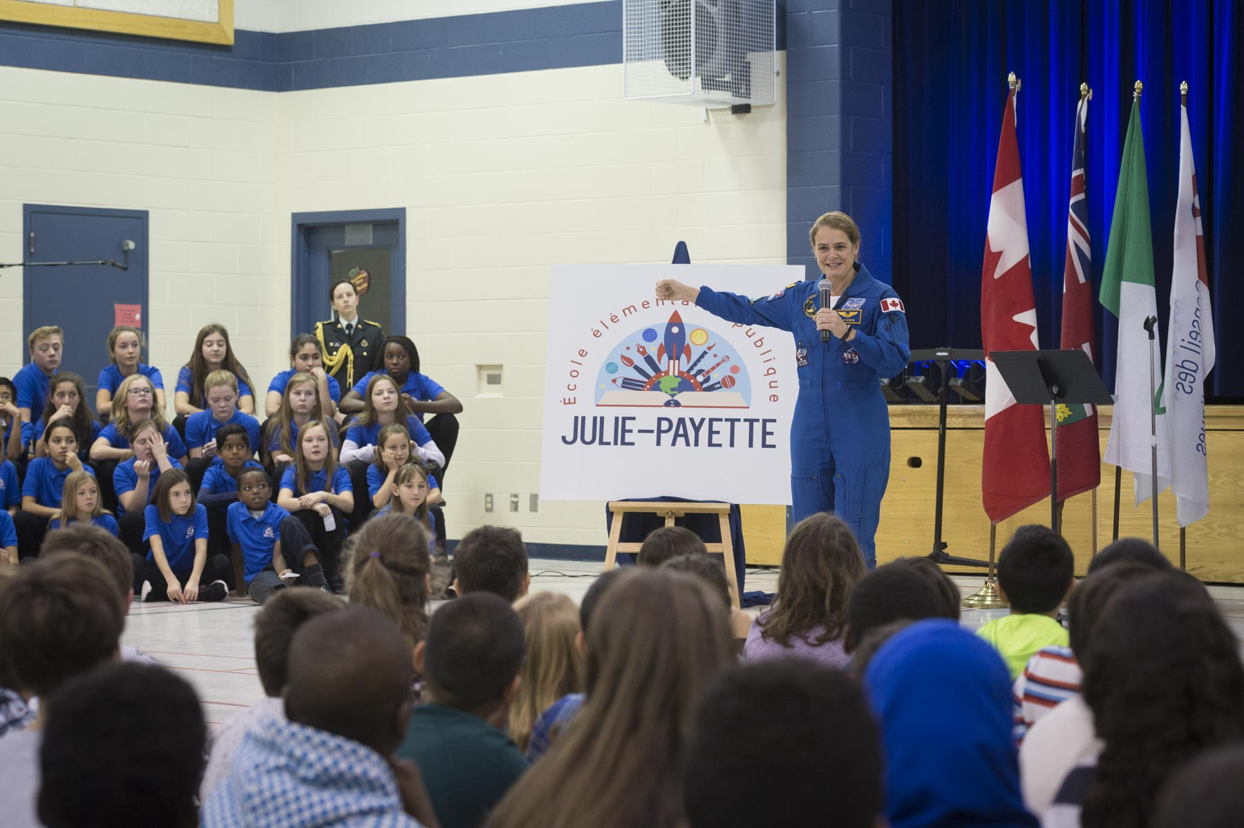 Her Excellency addressed the students and representatives from the school and school board.