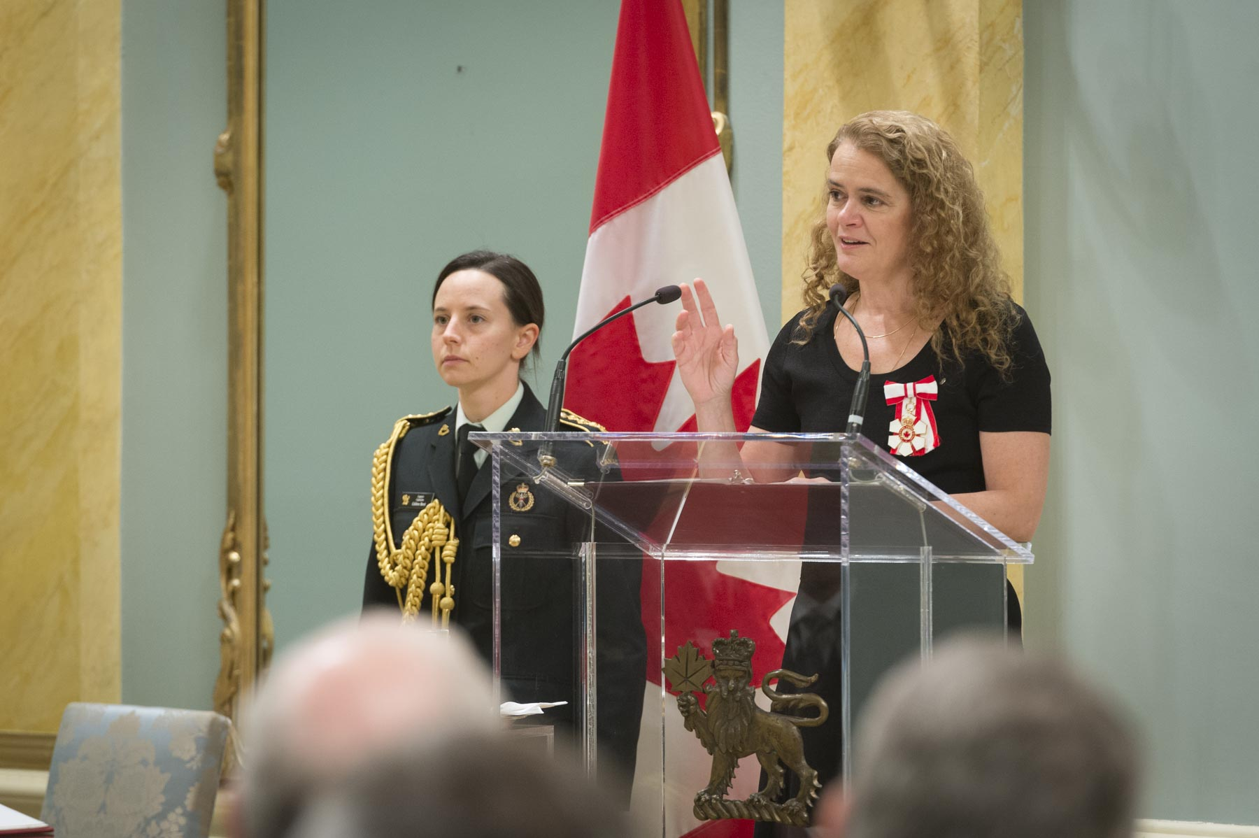 At the beginning of the ceremony, Her Excellency thanked the recipients for their acts of bravery.