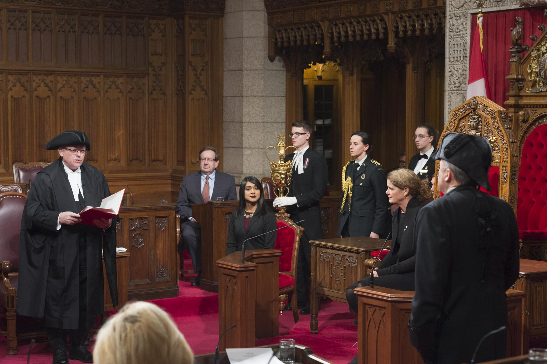 Her Excellency attended a traditional Royal Assent ceremony inside the Senate, on Parliament Hill, on December 12, 2017.