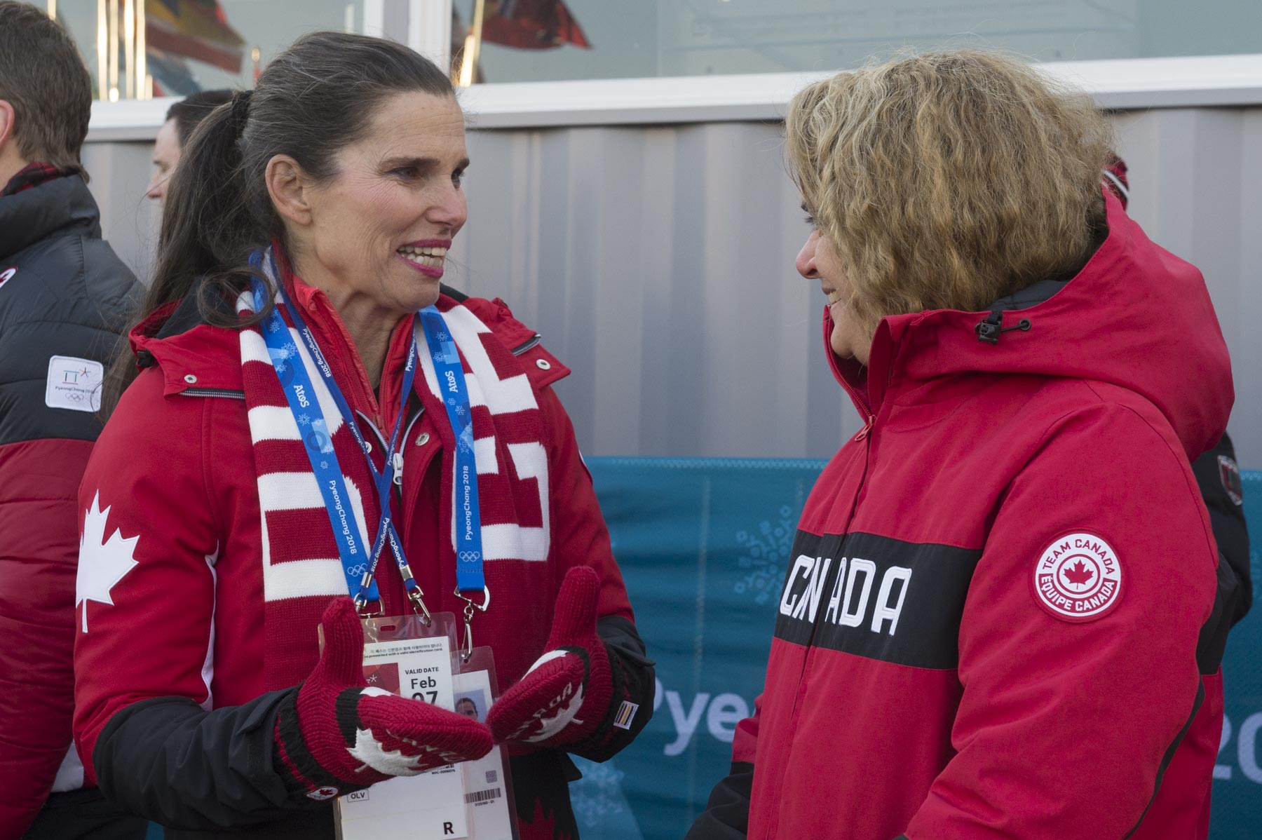 Her Excellency and the Honourable Kirsty Duncan, Minister of Science and Minister of Sport and Persons with Disabilities, were on hand to welcome Team Canada athletes.