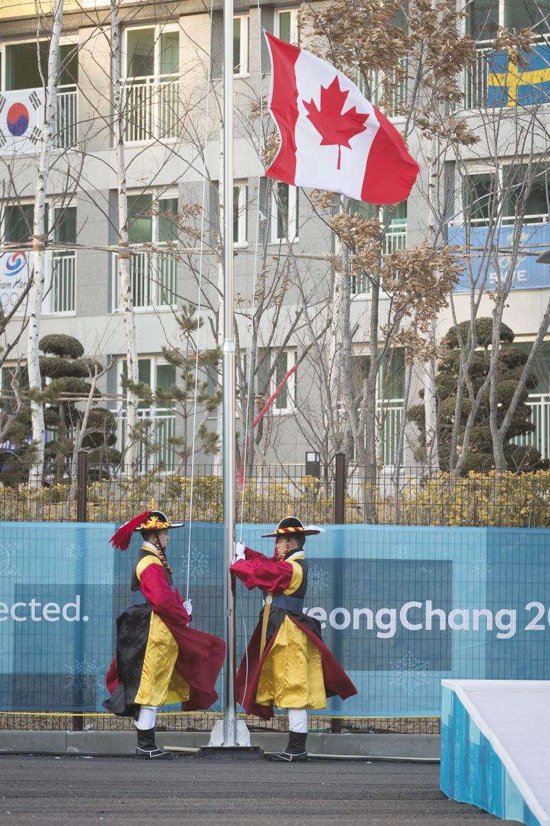 Later in the afternoon, Her Excellency attended the flag raising ceremony of the Canadian flag at the Olympic Village.