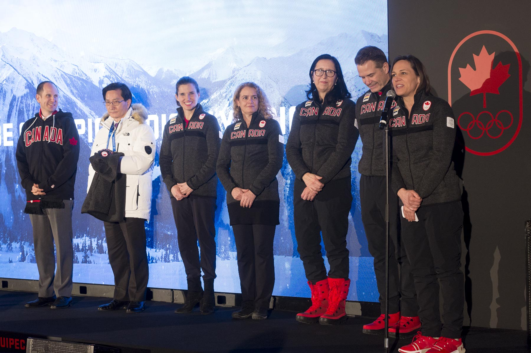 She was then invited to address families and friends of our Canadian athletes, representatives of national sports federations, and Canadian Olympic Committee executive members and volunteers.
