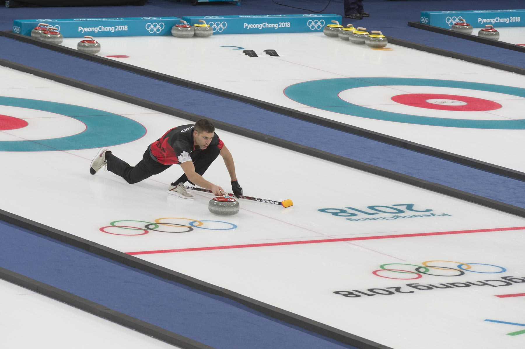 Mixed doubles curling made its Olympic debut in the PyeongChang Olympics.